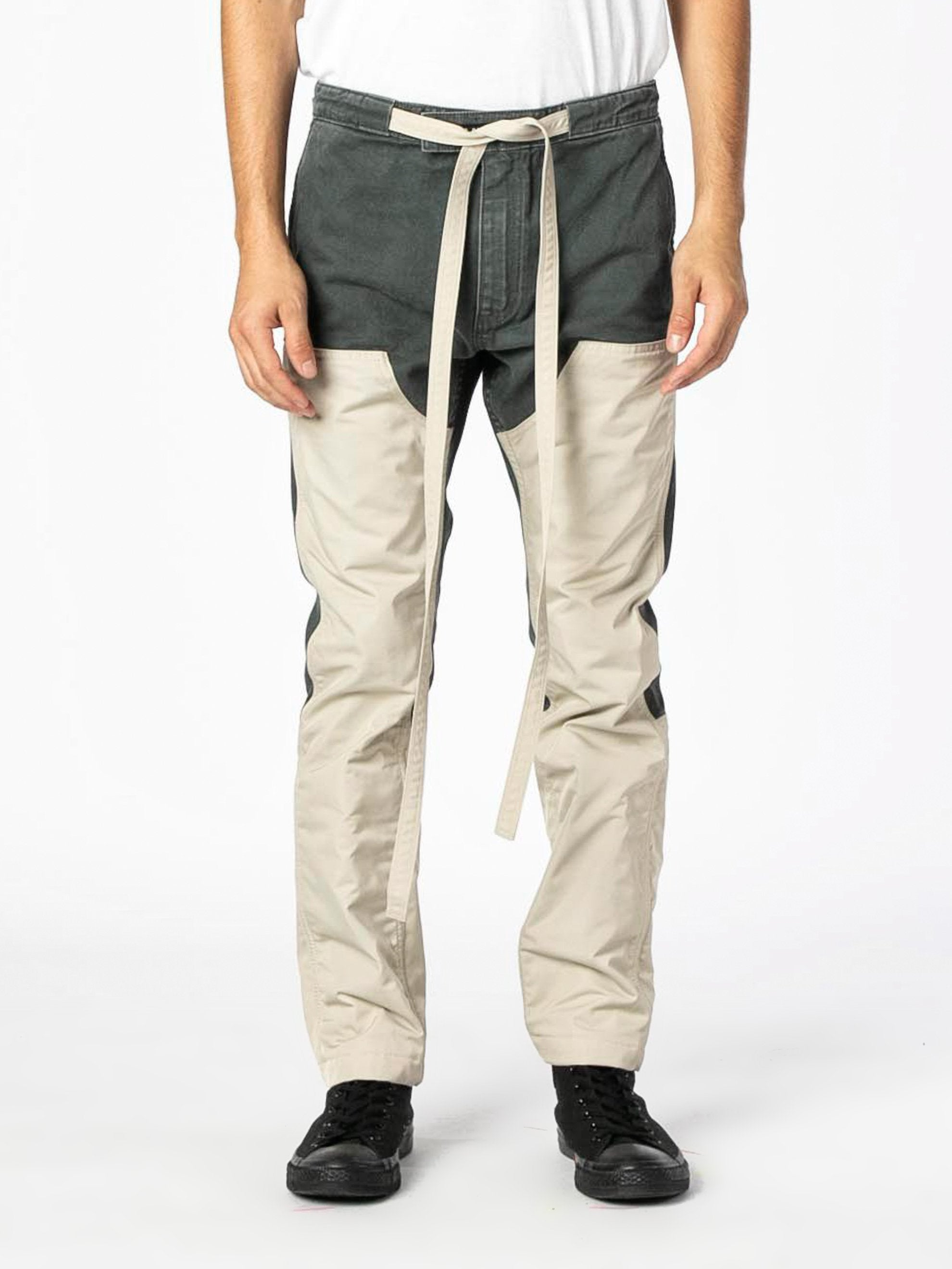 Seaweed / Bone Nylon Canvas Double Front Work Pant 3