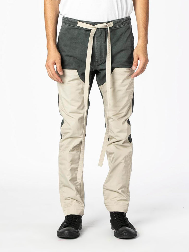 Seaweed / Bone Nylon Canvas Double Front Work Pant 313570606825549
