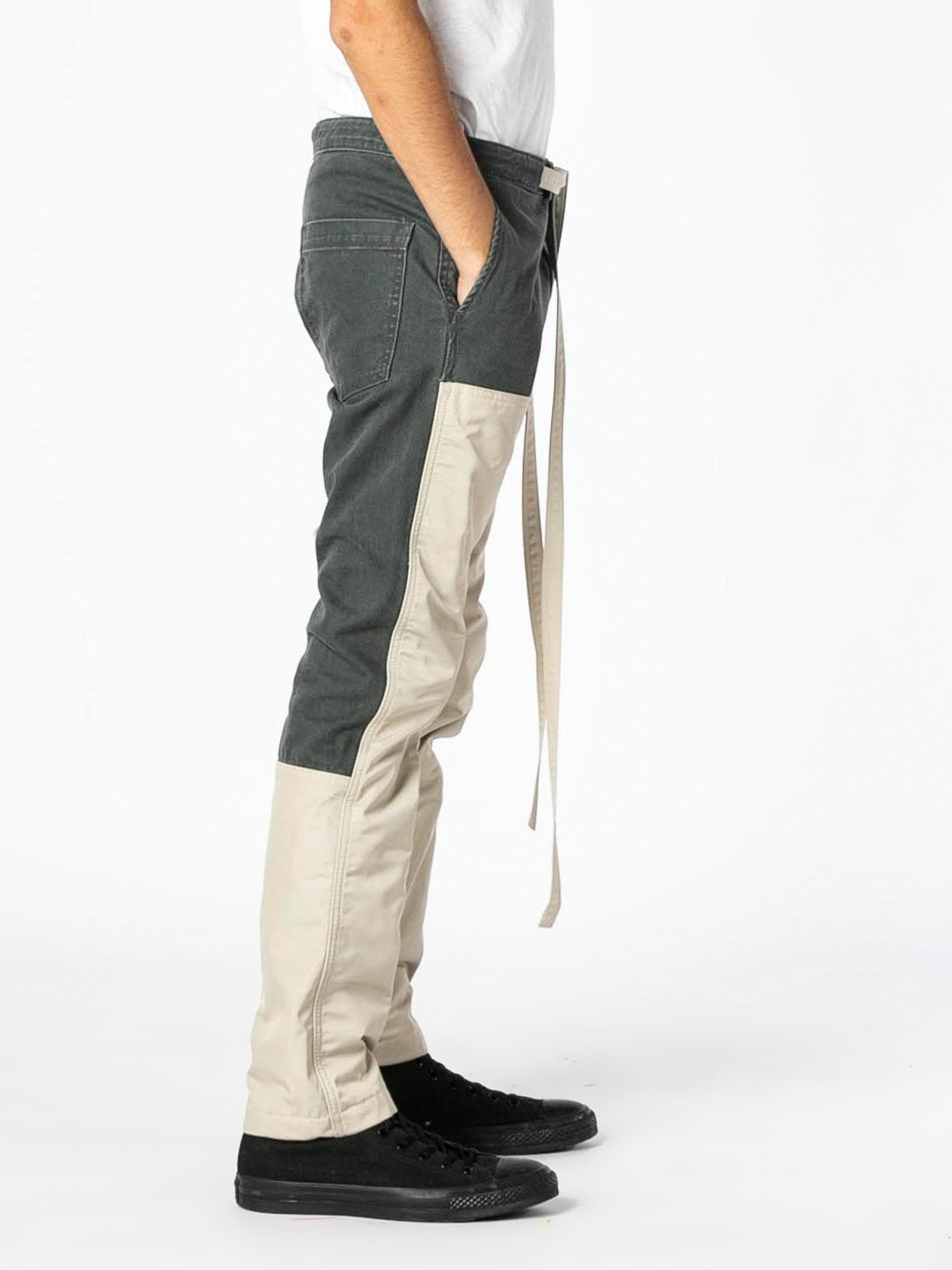 Seaweed / Bone Nylon Canvas Double Front Work Pant 4