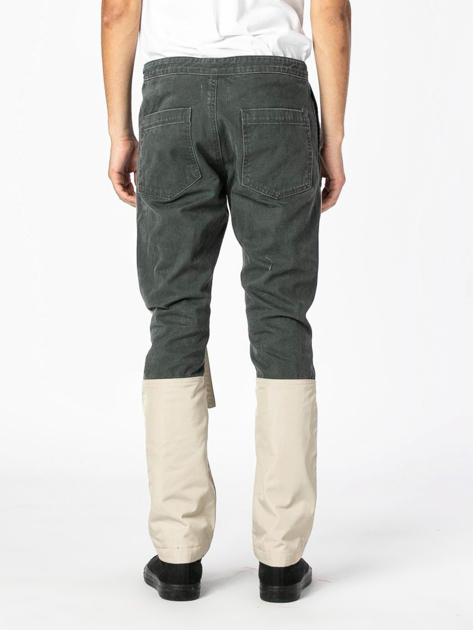 Seaweed / Bone Nylon Canvas Double Front Work Pant 5