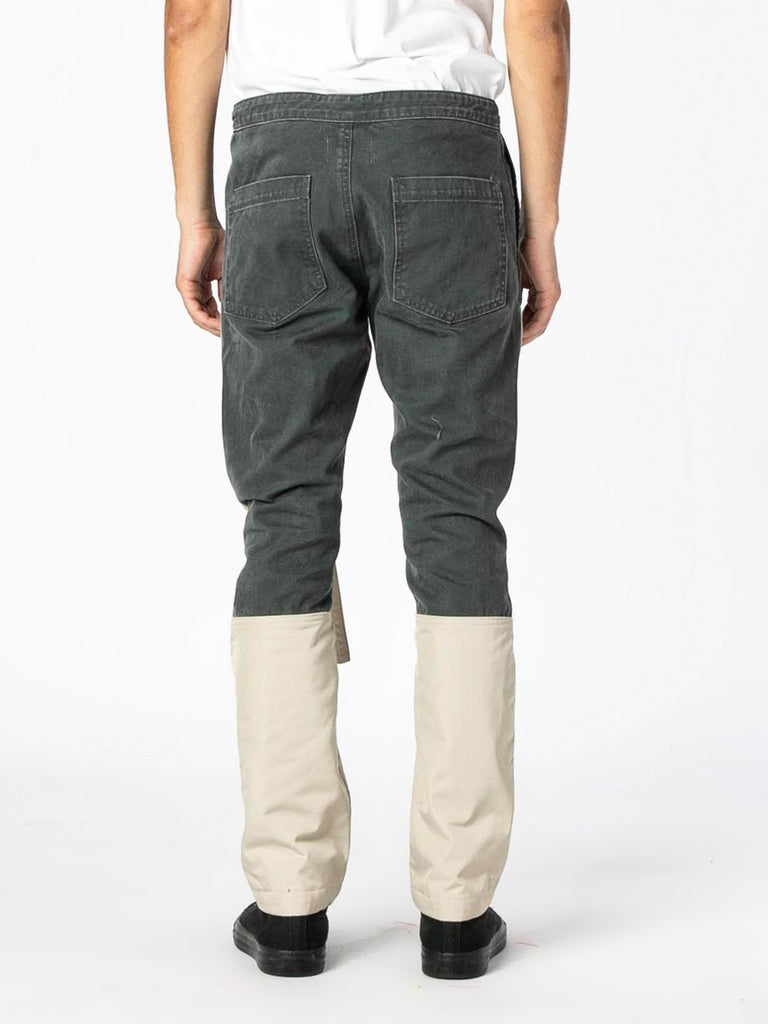 Seaweed / Bone Nylon Canvas Double Front Work Pant 513570606891085