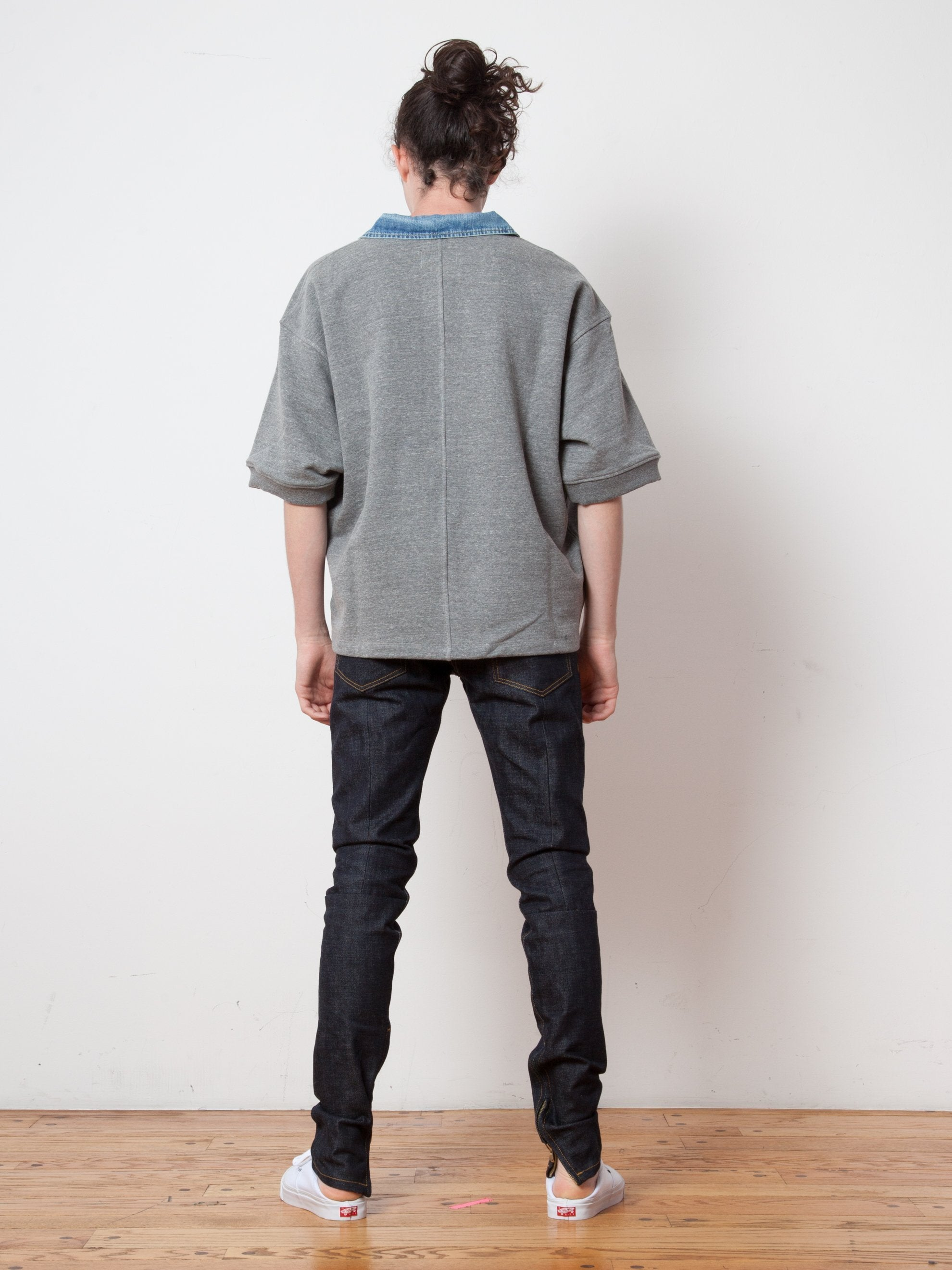 Raw Indigo Selvedge Paneled Denim Jean 3