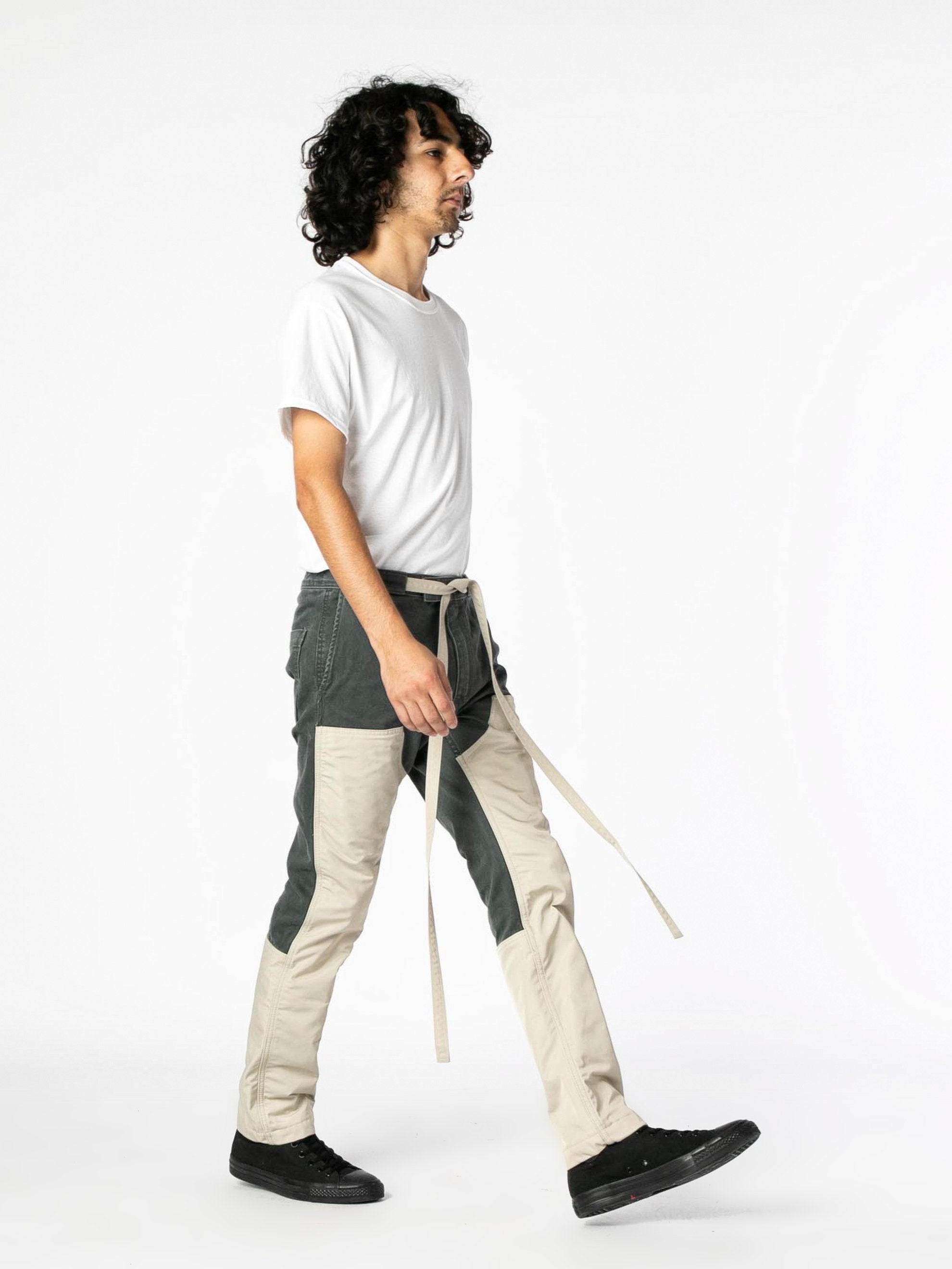 Seaweed / Bone Nylon Canvas Double Front Work Pant 6