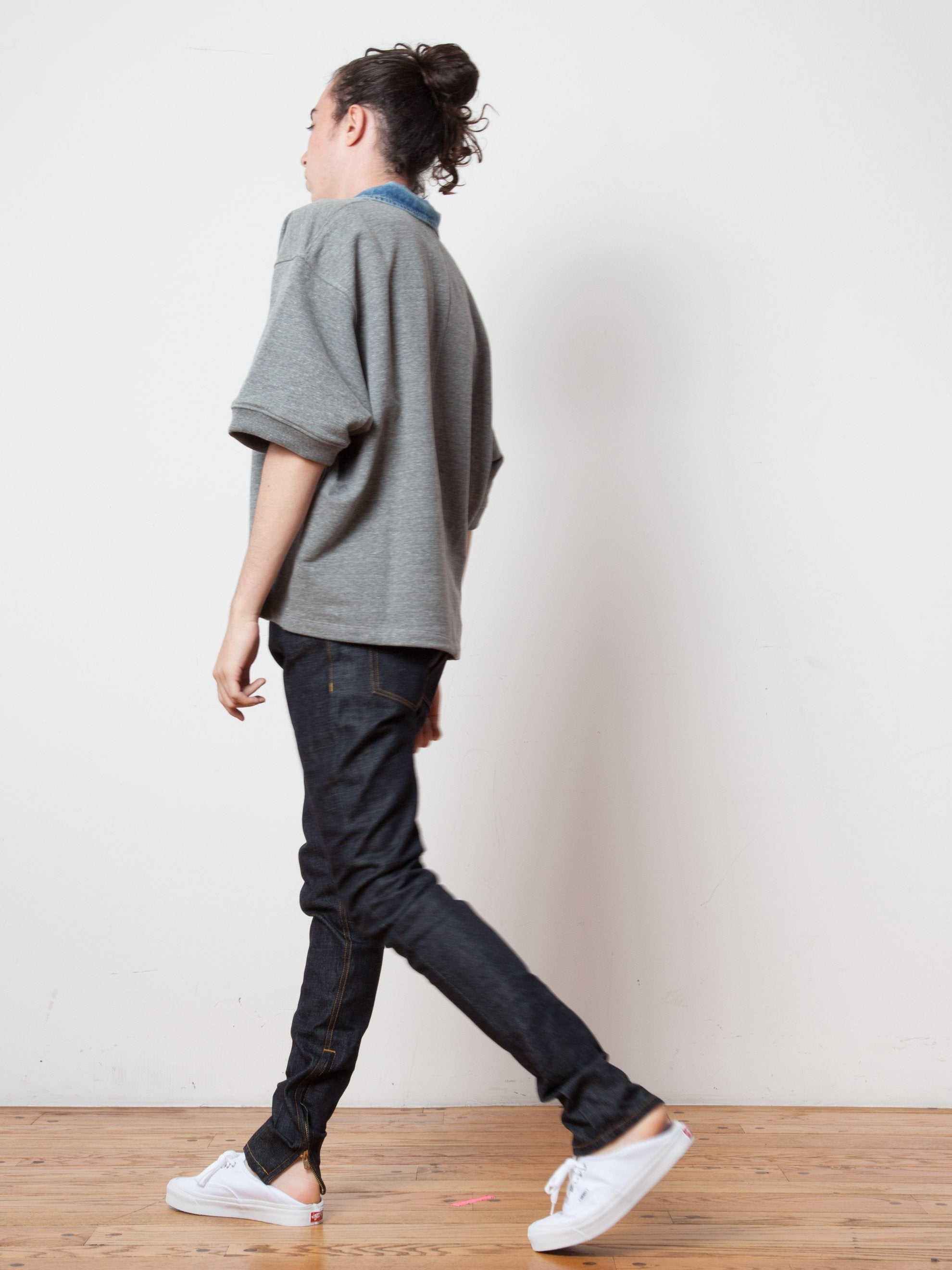 Raw Indigo Selvedge Paneled Denim Jean 5