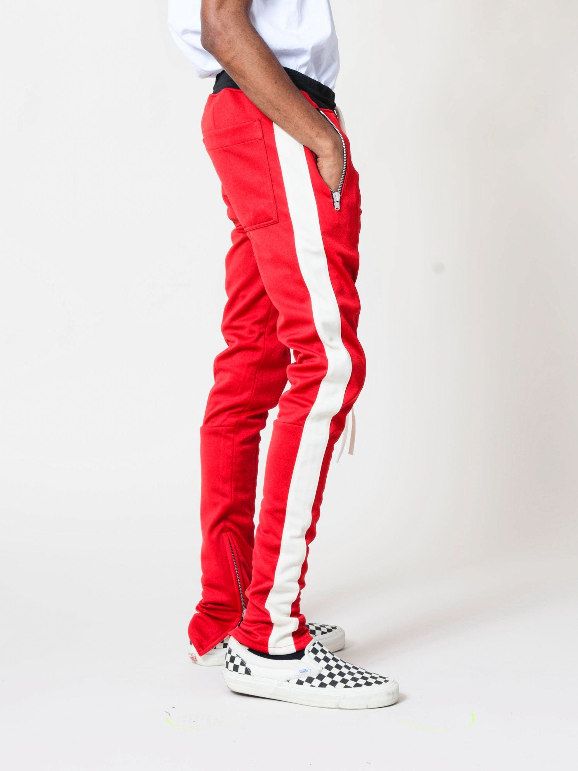 Red/Cream Drawstring Track Pant 5