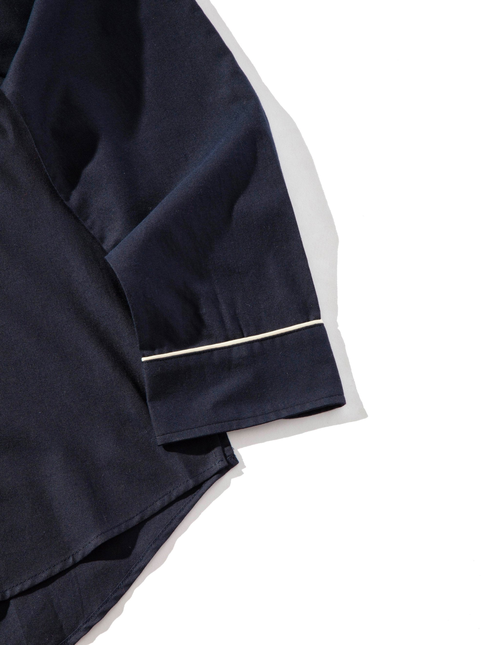 Navy Piped Oversized Shirt 6