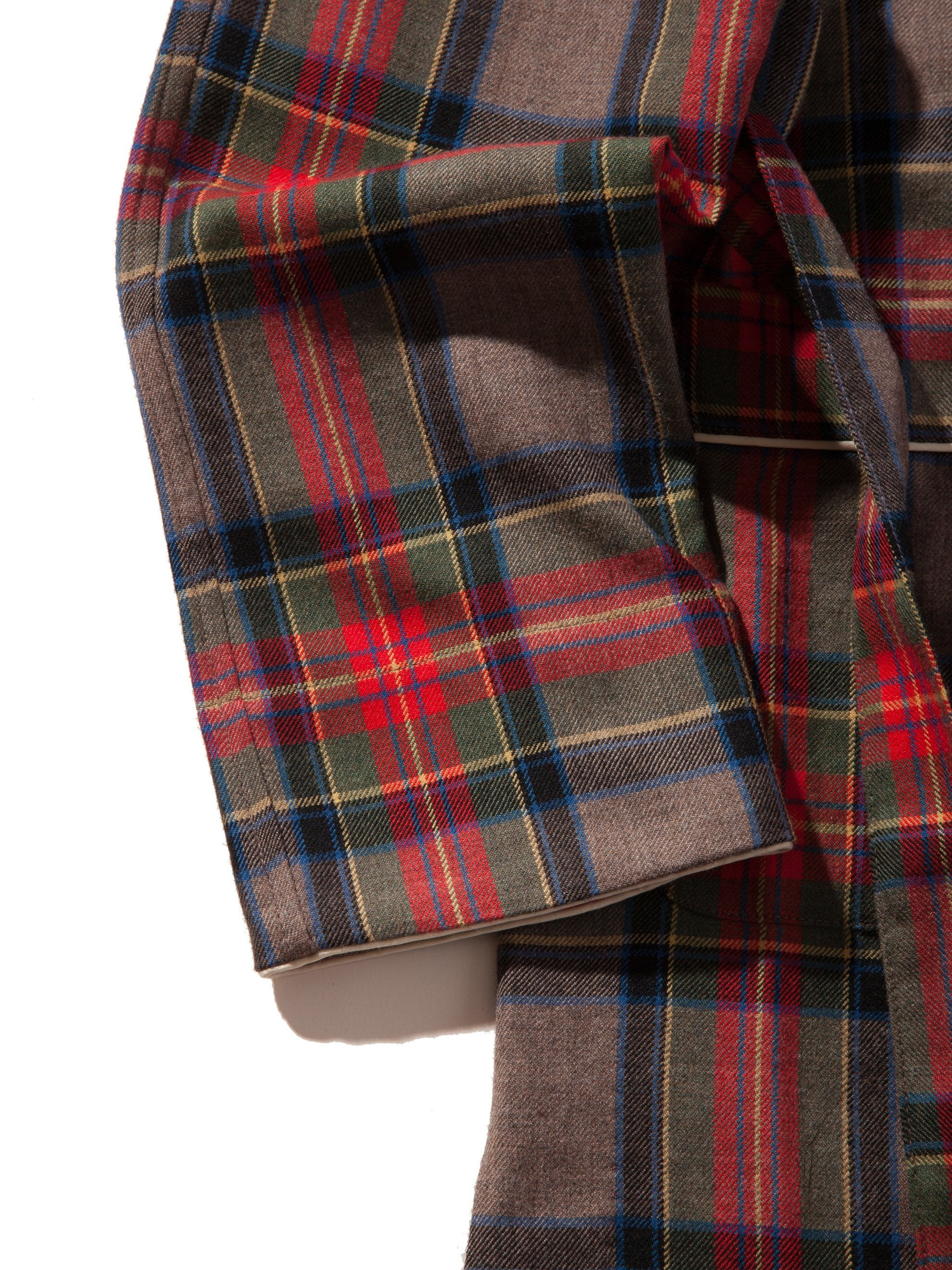 Red/Brown Plaid Wool Robe 9