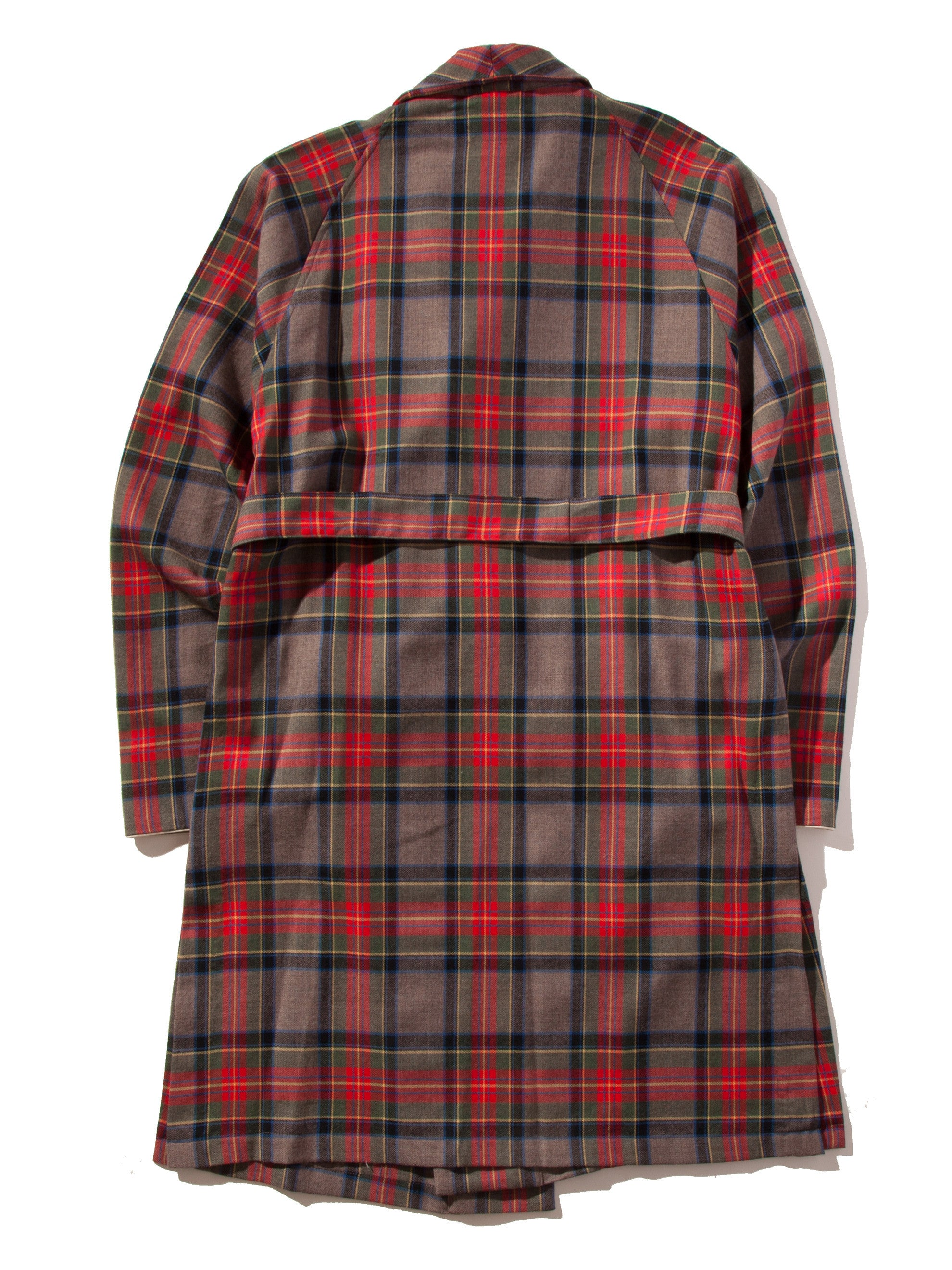 Red/Brown Plaid Wool Robe 11