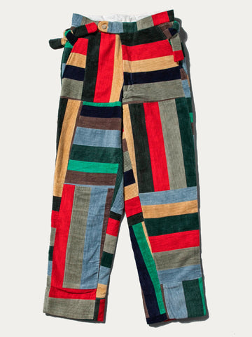 Corduroy Patchwork Trouser