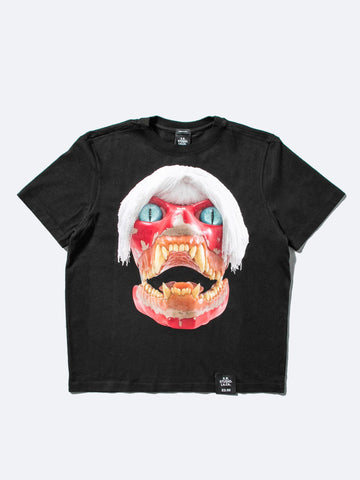 Basic T-Shirt White Haired Red Skull