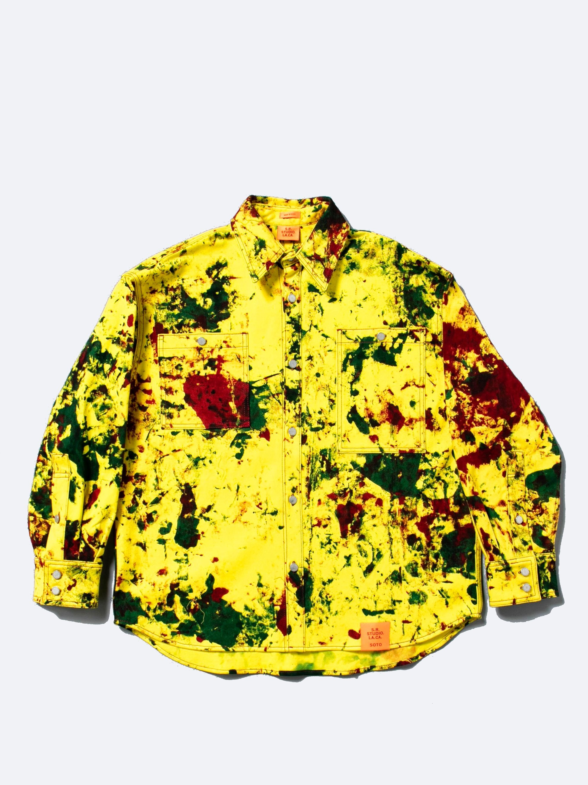 Hand-Dyed Y.R.G. Soto Oversized Long Sleeve Button Down Shirt