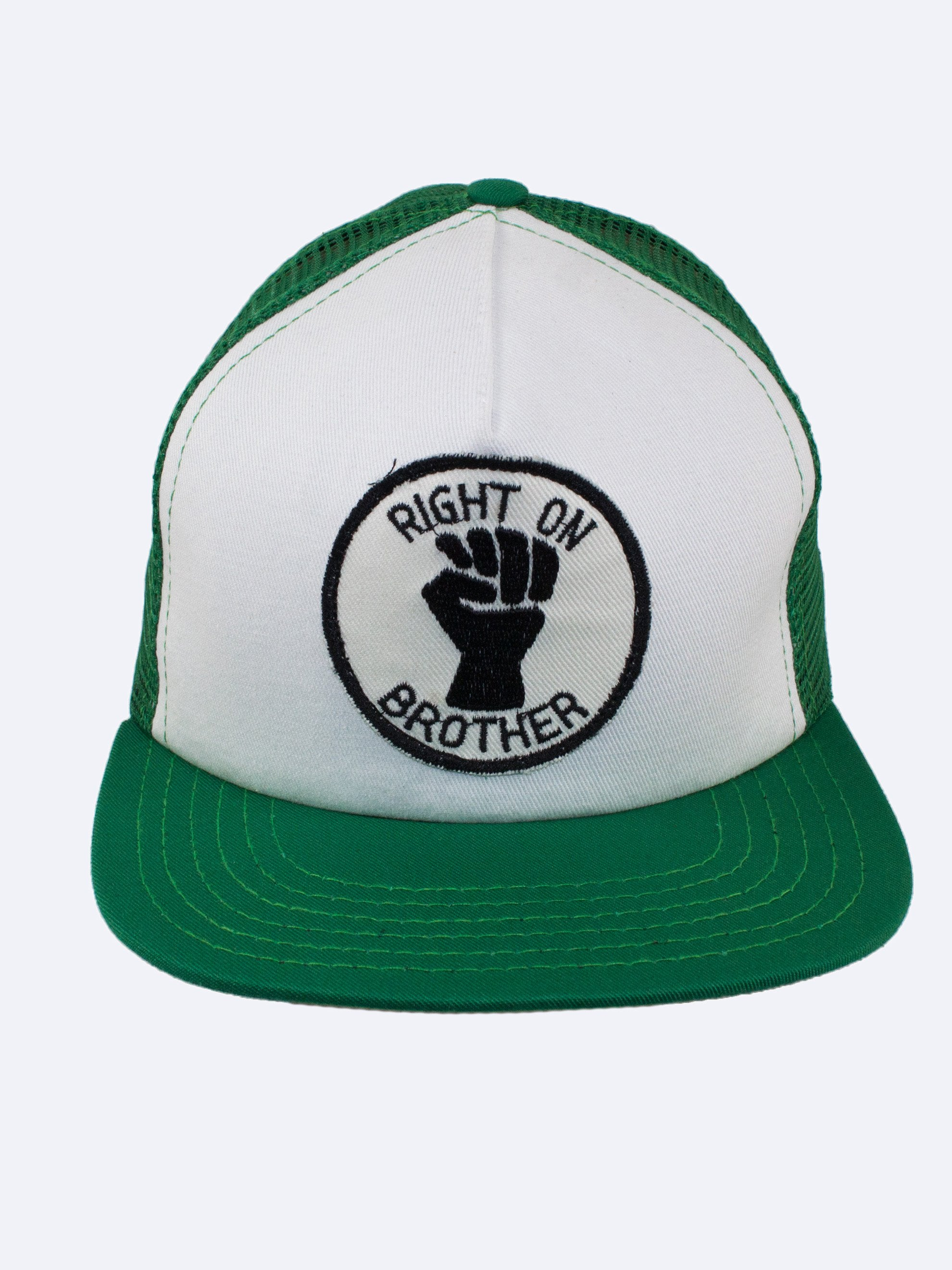 Green Hat/White Patch Right On Brother 1