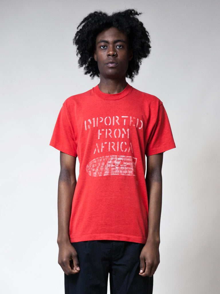 Red 1990's Imported From Africa T-Shirt 2991922454537