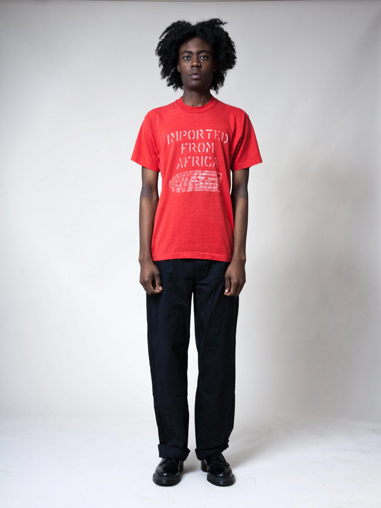 Red 1990's Imported From Africa T-Shirt 3991922520073