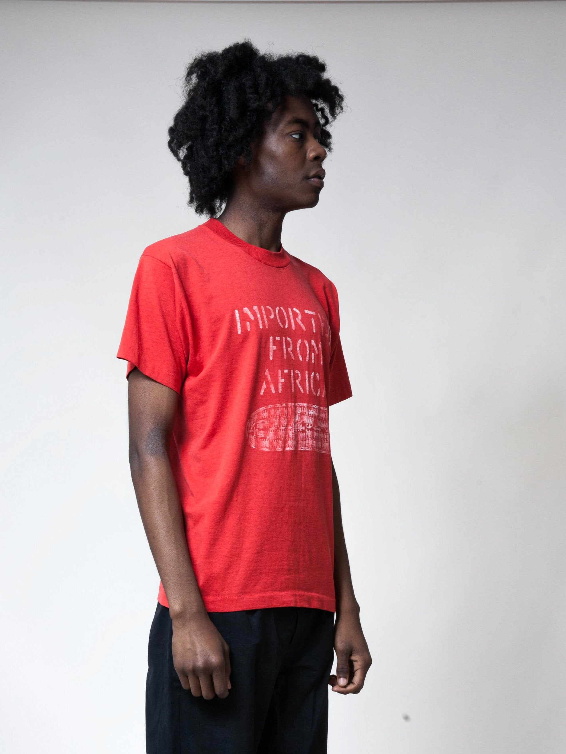 Red 1990's Imported From Africa T-Shirt 4