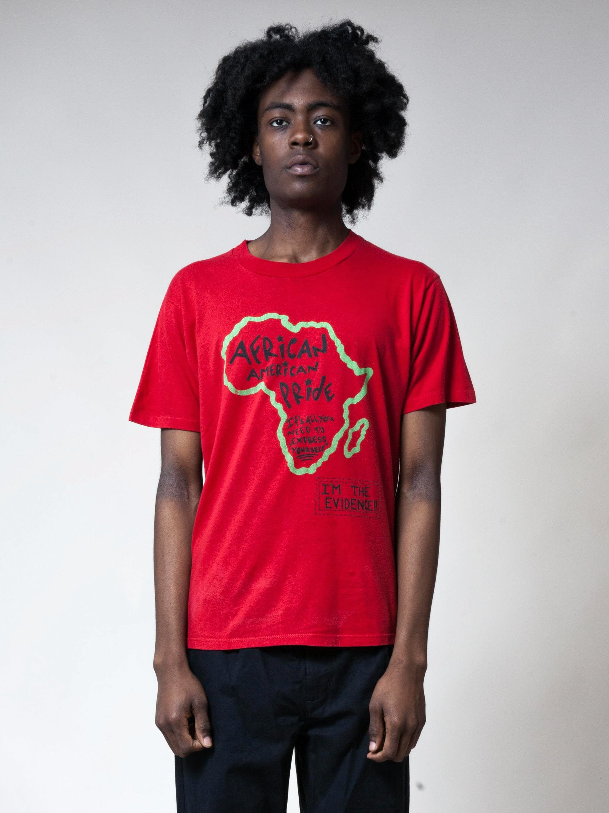 Red 1990's African American Pride T-Shirt 2