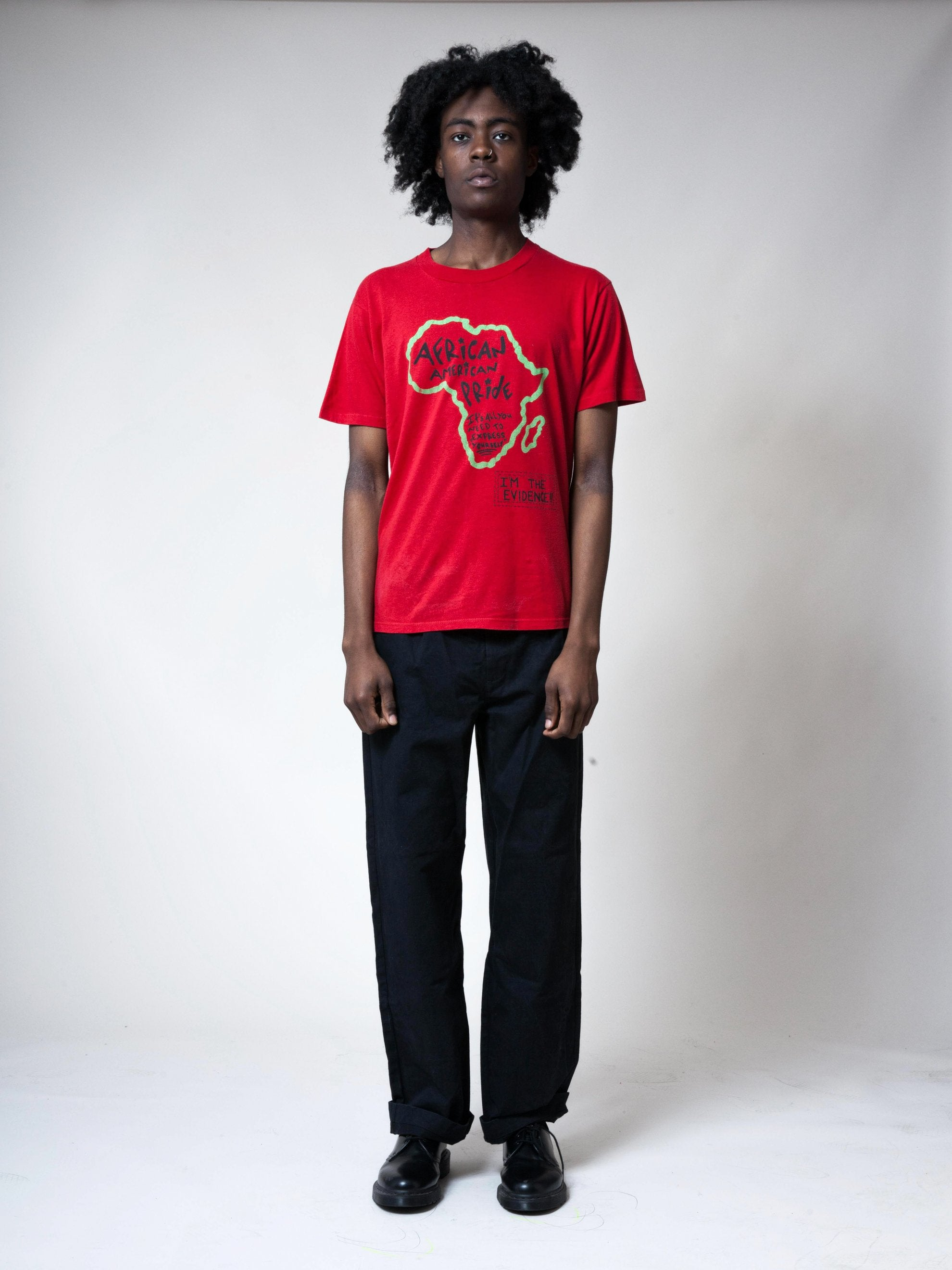 Red 1990's African American Pride T-Shirt 3