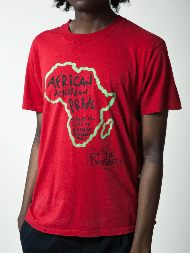 Red 1990's African American Pride T-Shirt 6991915769865