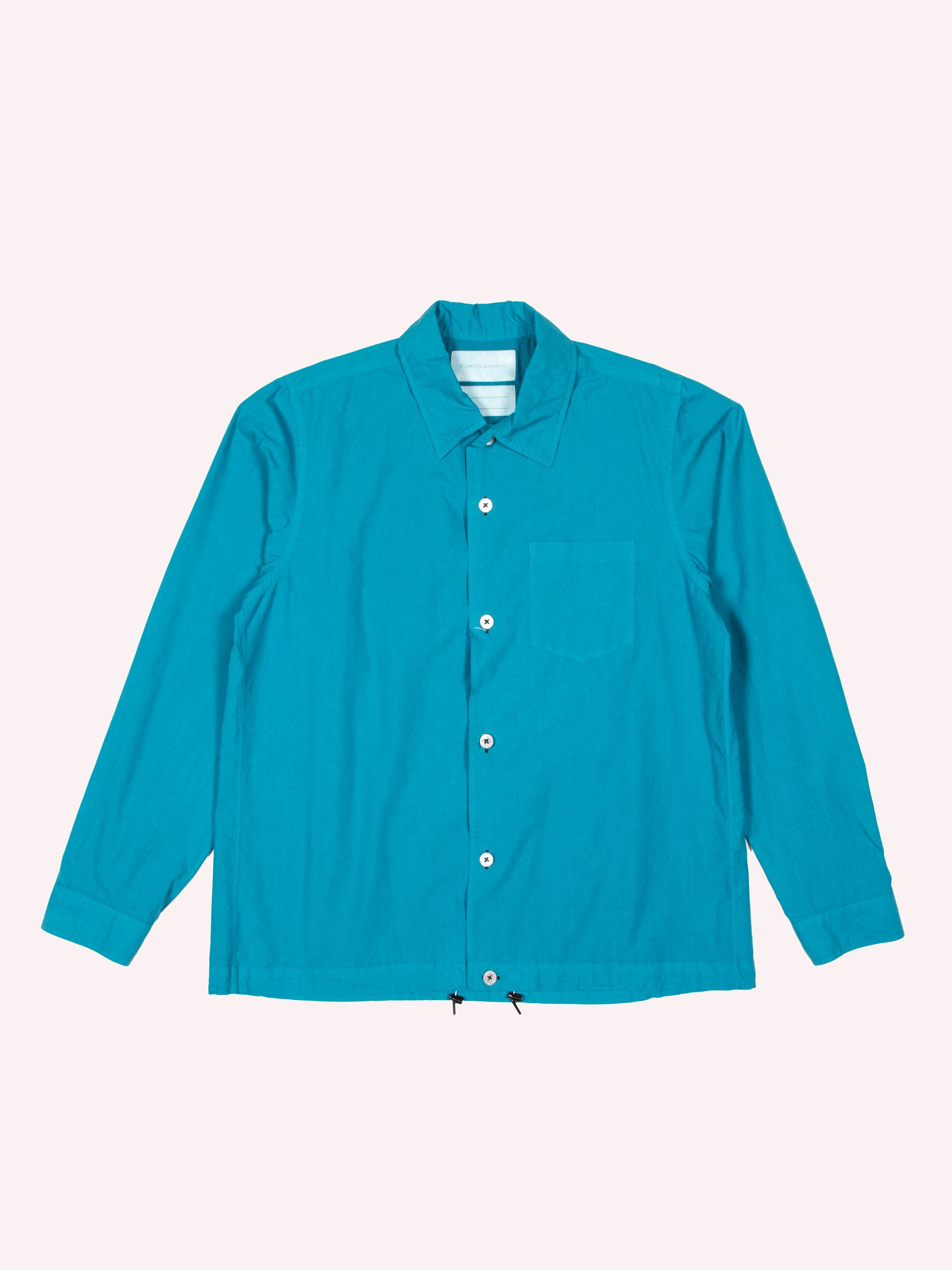 Blue/Green Button Silk Blend Blouson 1