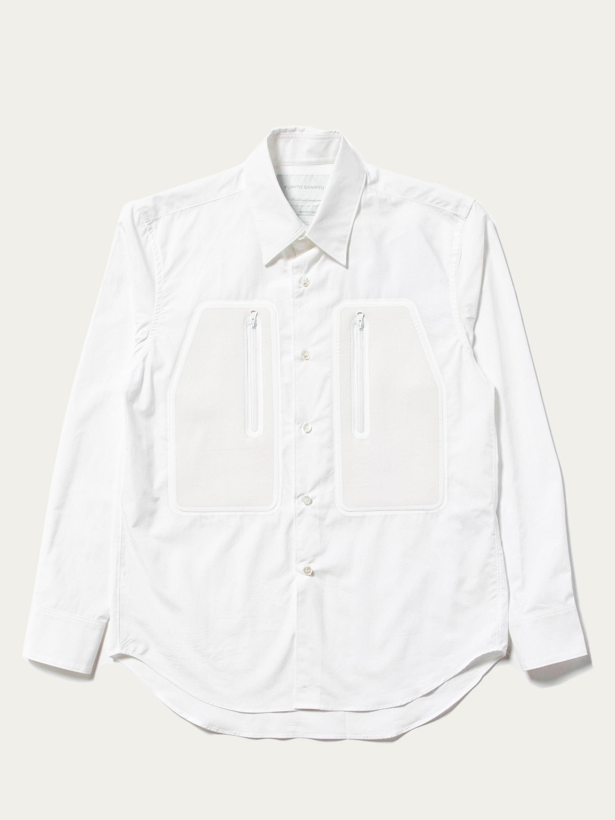 White Technical Pocket Shirt 1