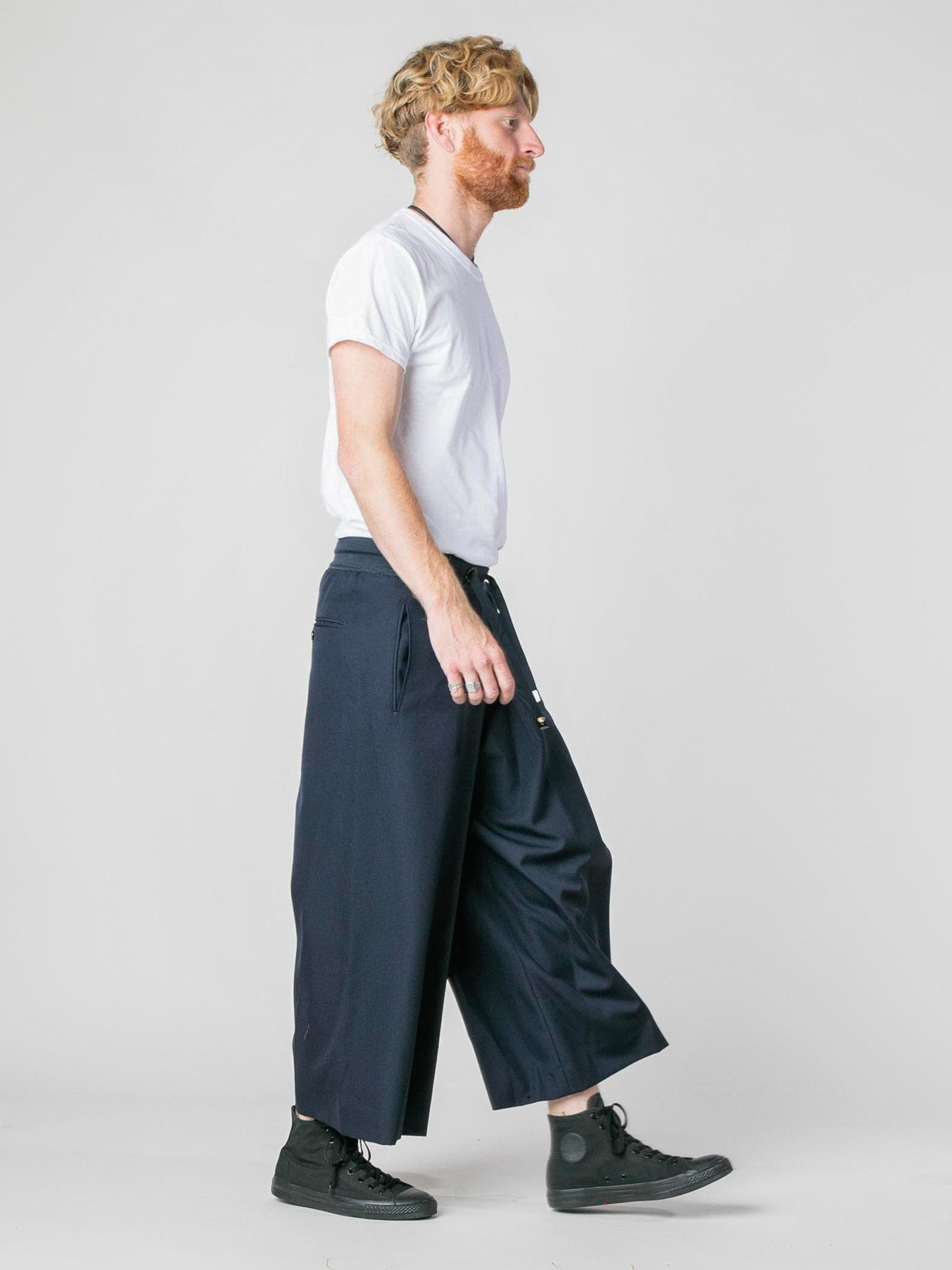 Navy Woven Judo Trousers 6