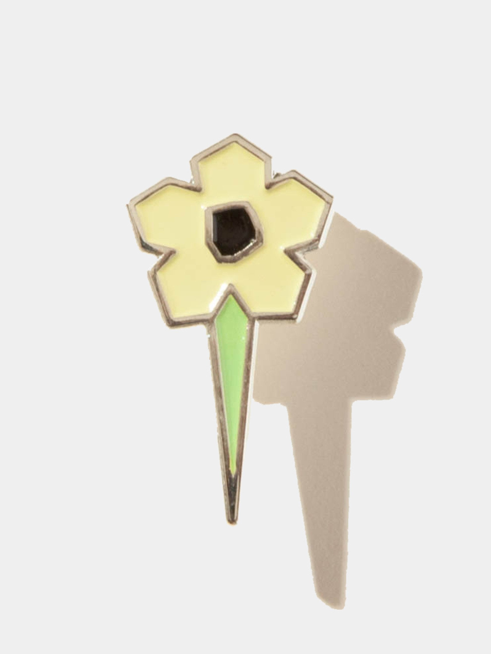 Yellow Flower Pin 1