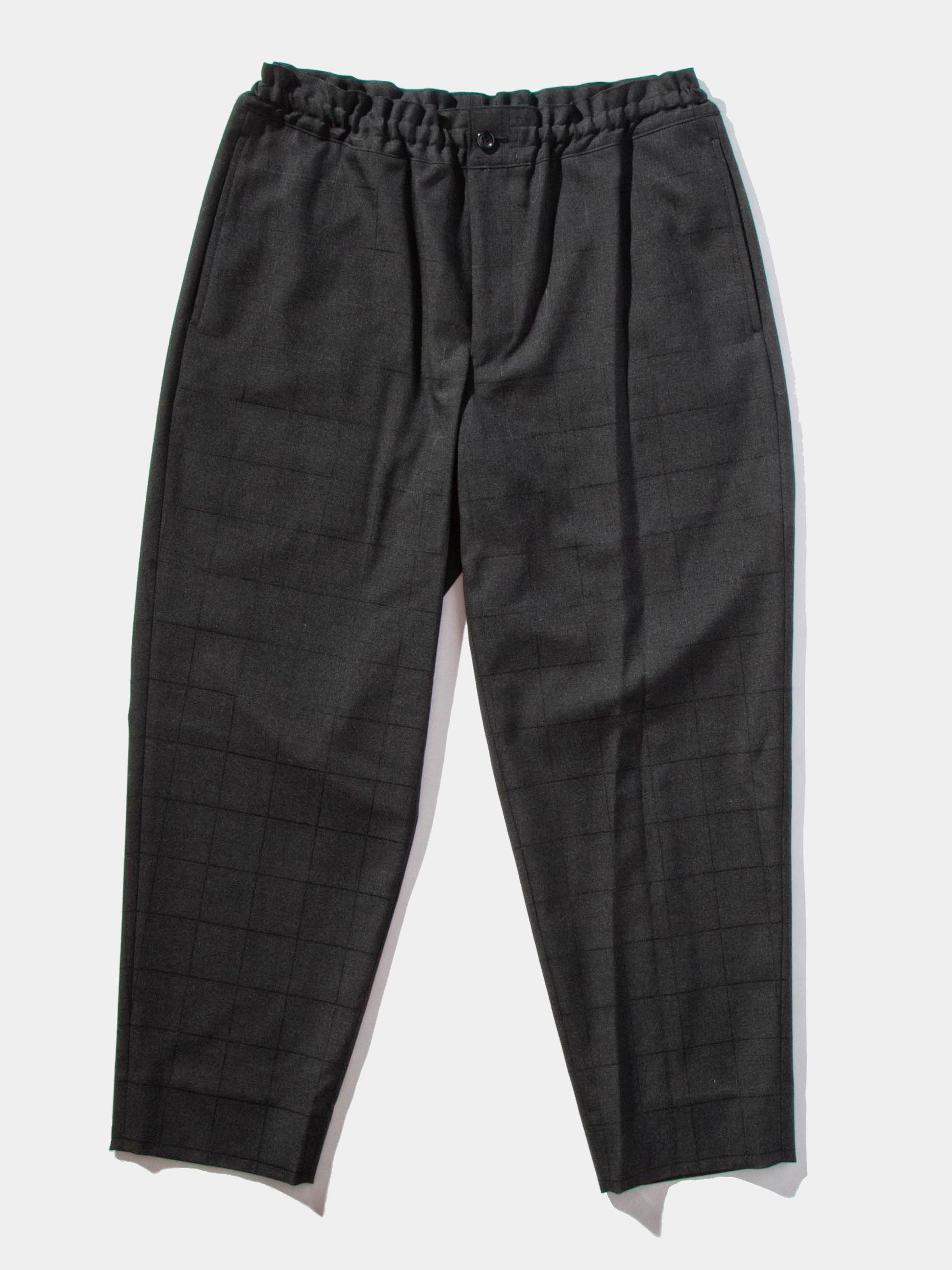 Charcoal Cropped Grid Trouser 1