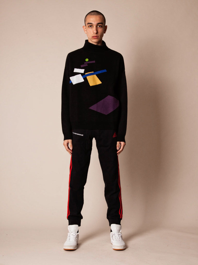 Geometry Turtleneck Sweater