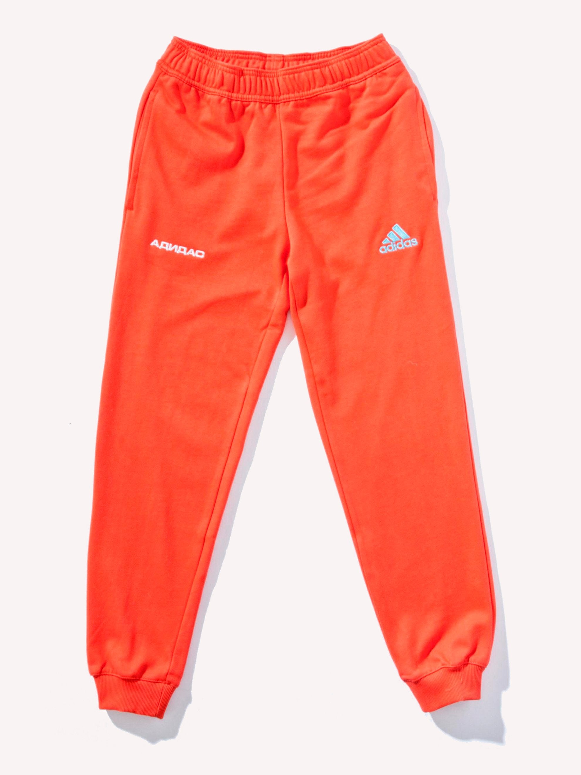 Orange Adidas Sweatpants 1