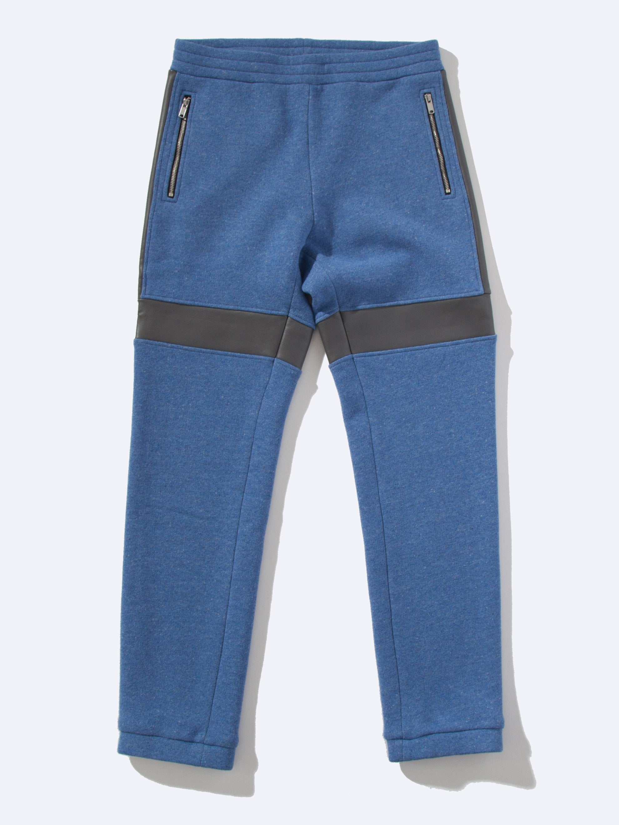 Blue Wool Pant (Fake Leather) 1