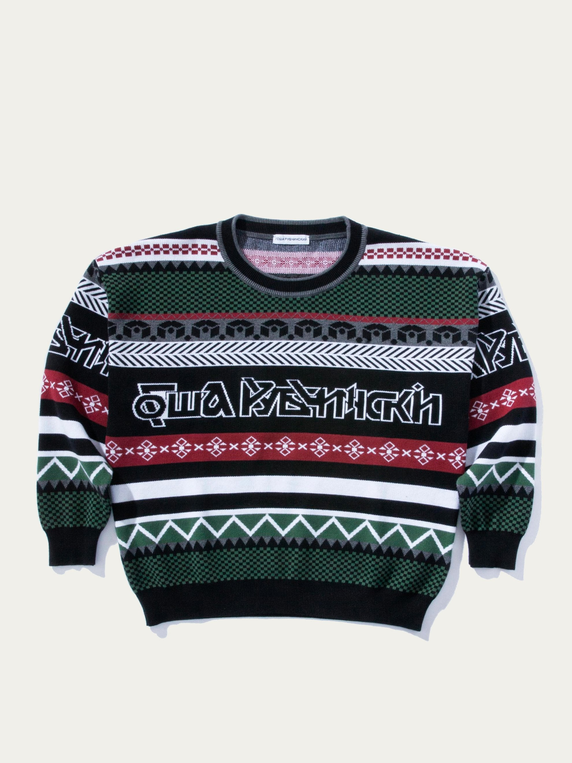 Multi Logo Knit Sweater 1