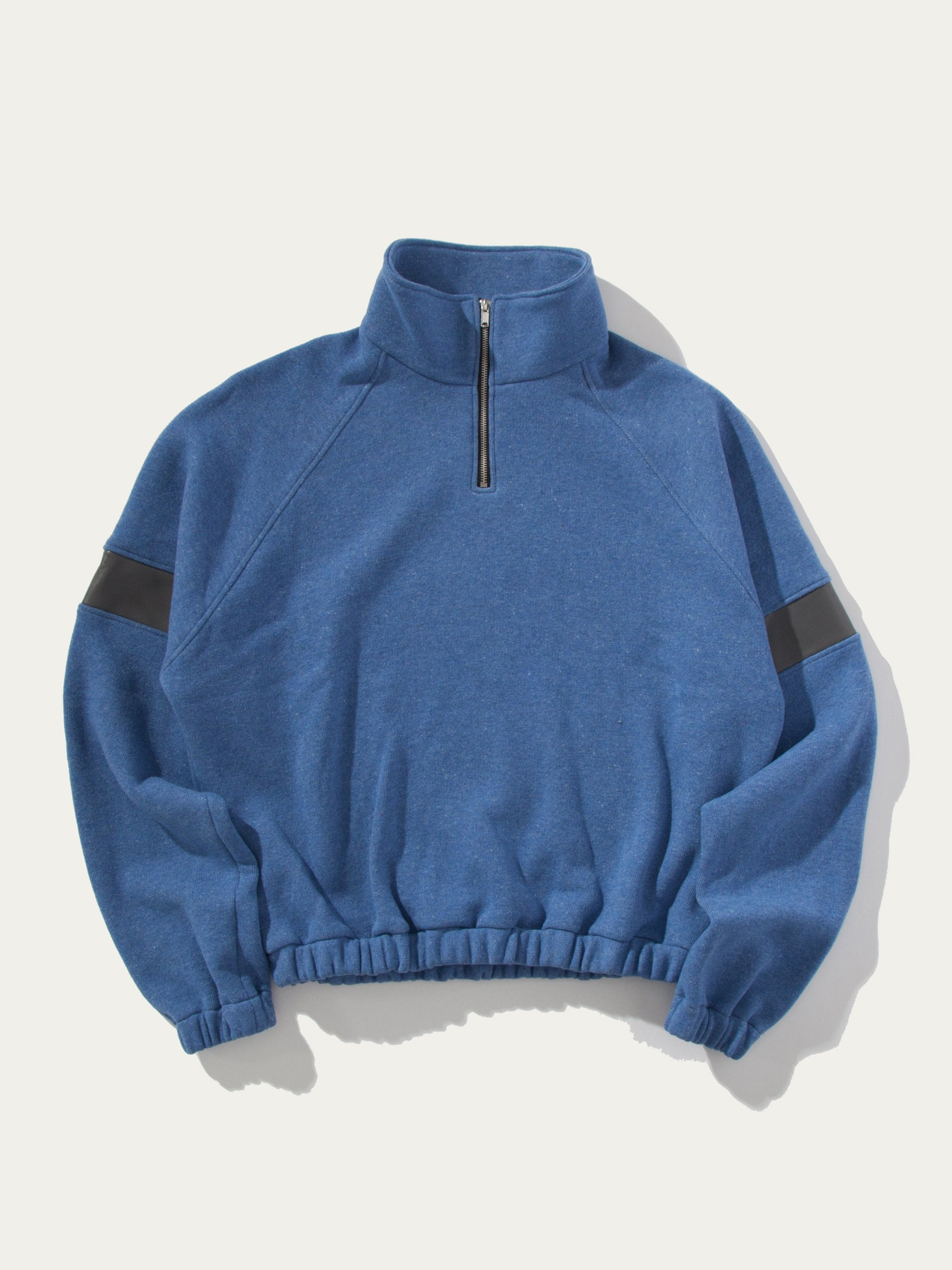 Blue Wool Pullover (Fake Leather) 1