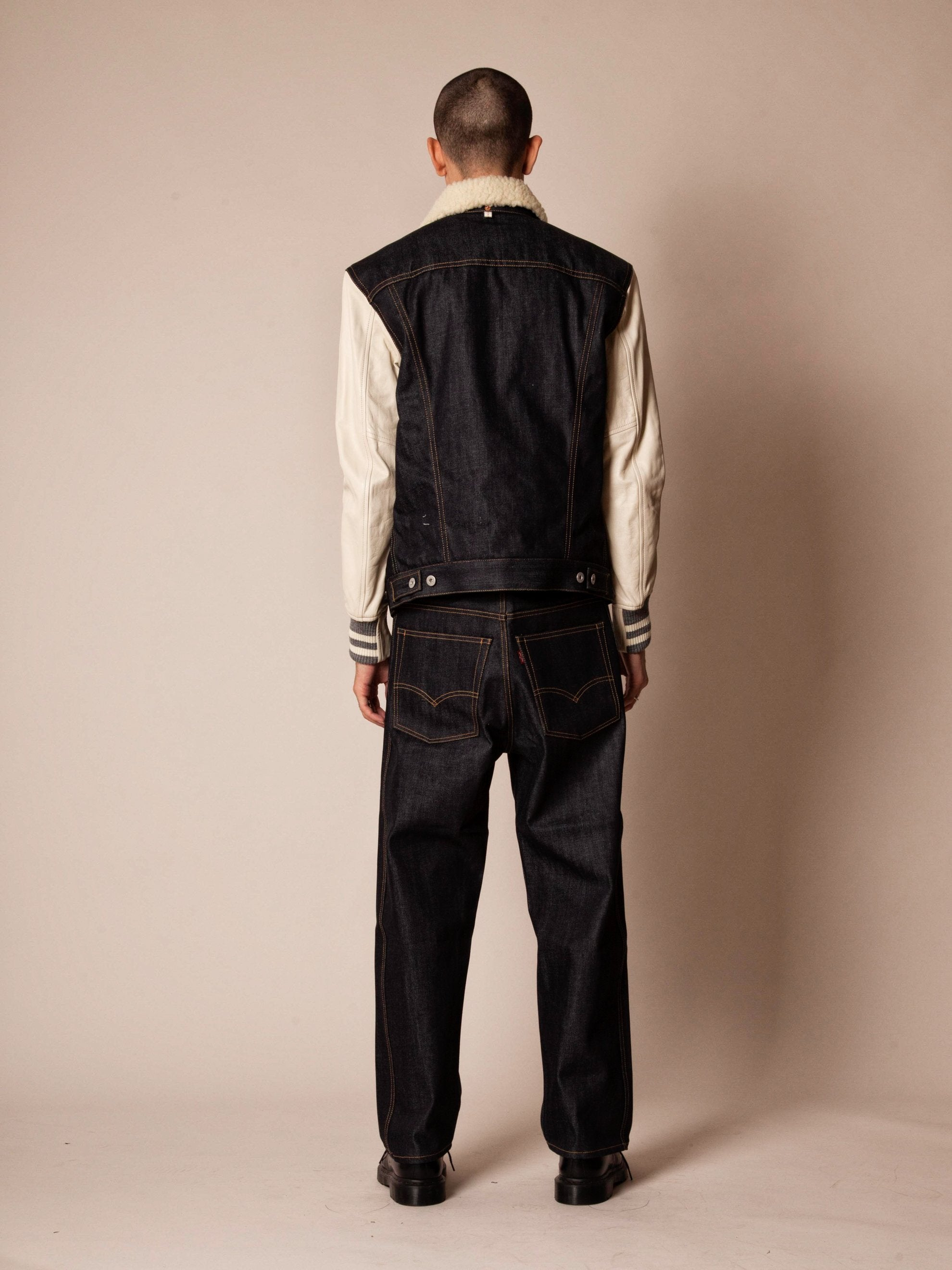 L Shearling Levis Denim Jacket 5