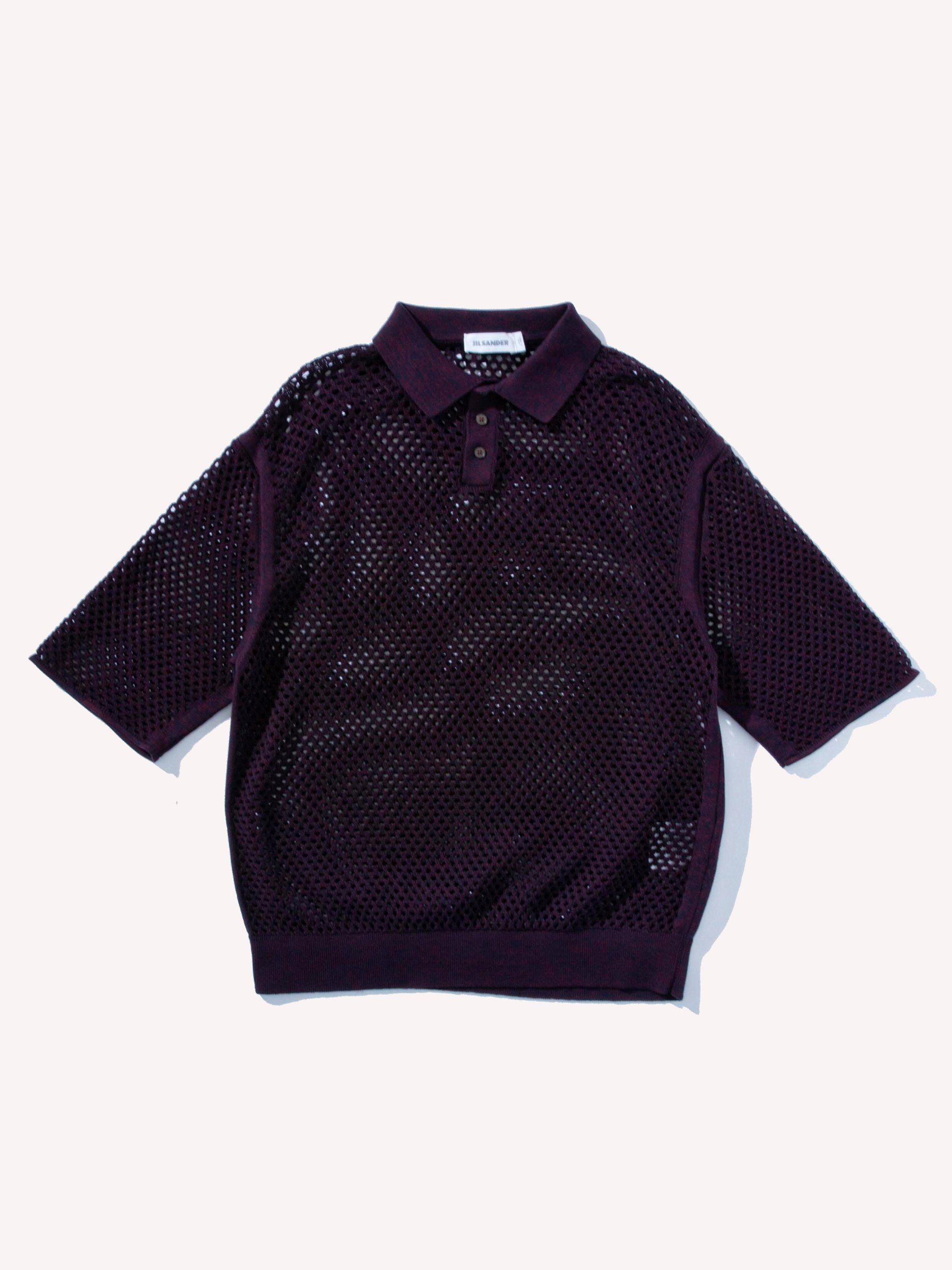 Plum Polo Knit Sweater 1