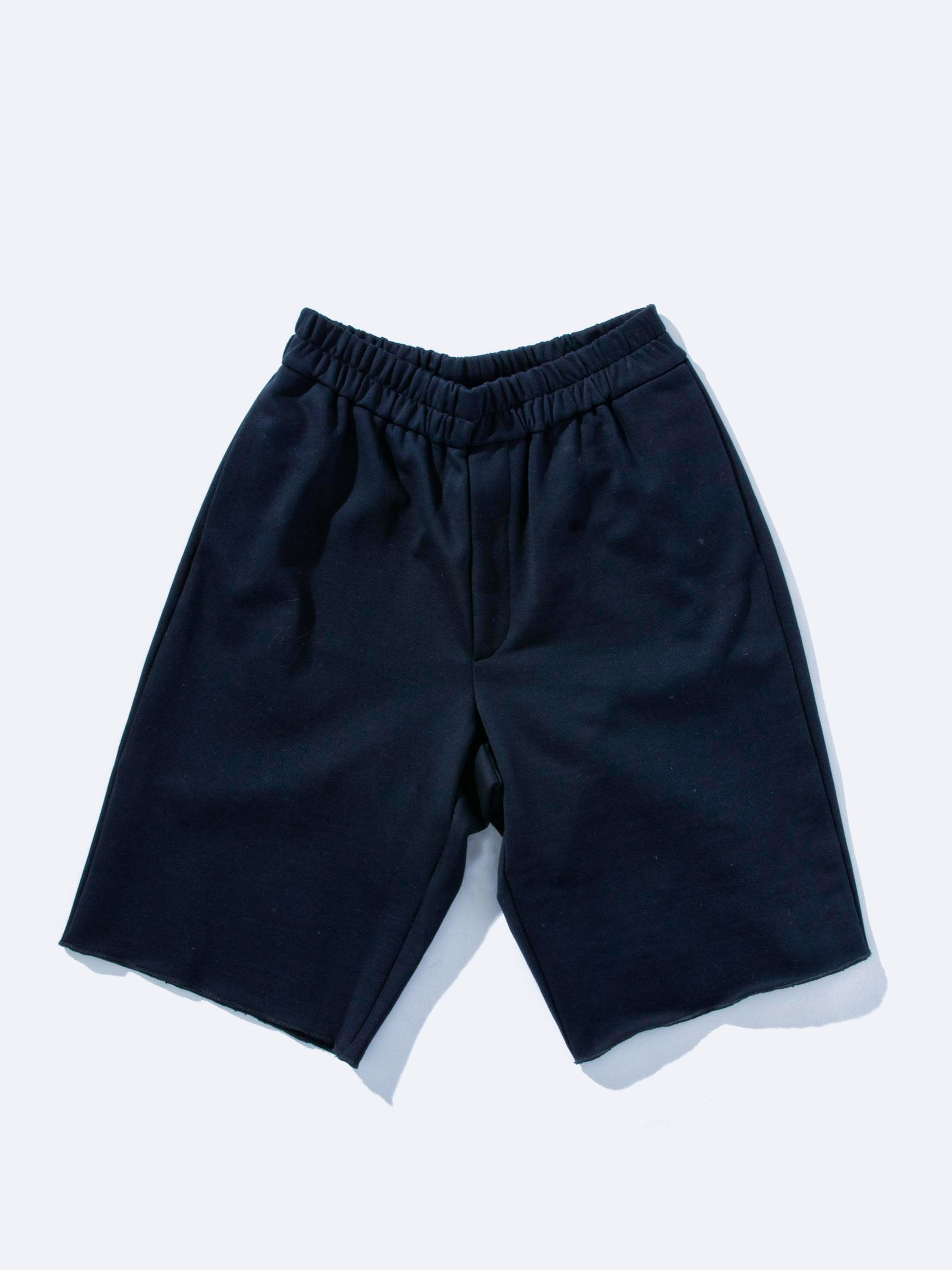 Black Jersey Knitted Short Pant 1