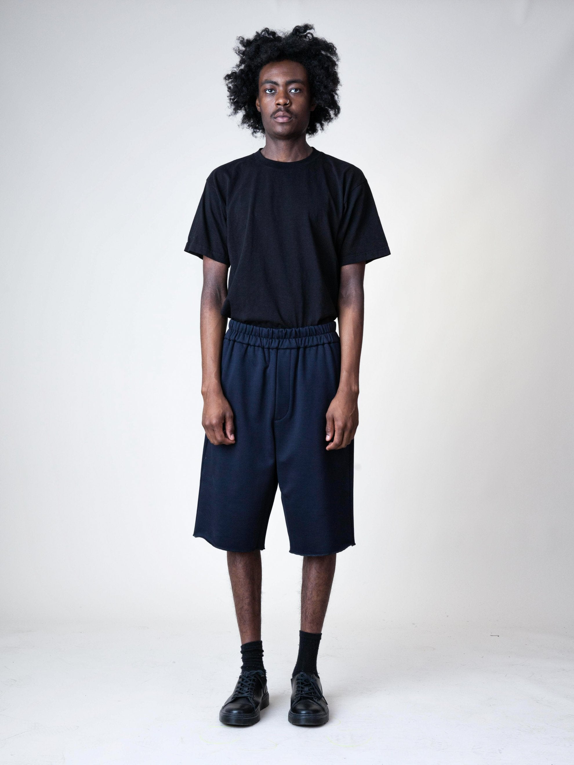 Black Jersey Knitted Short Pant 2