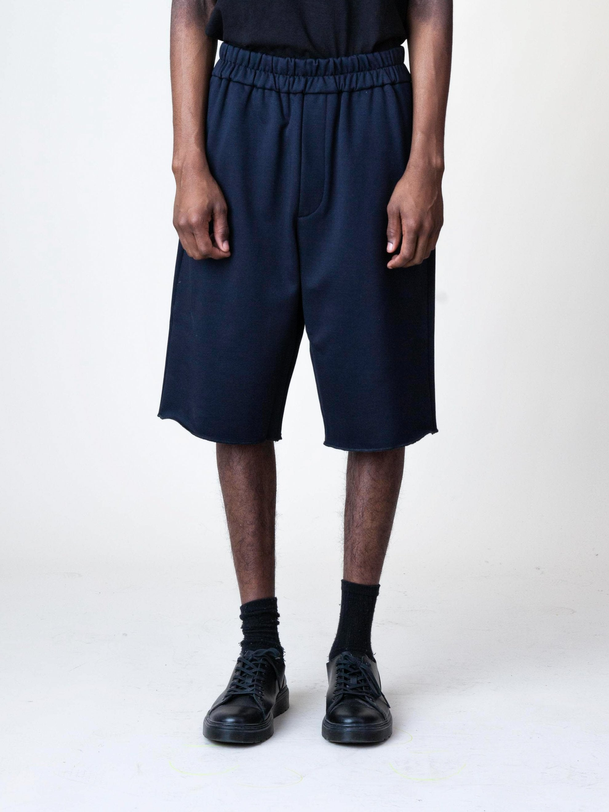 Black Jersey Knitted Short Pant 3