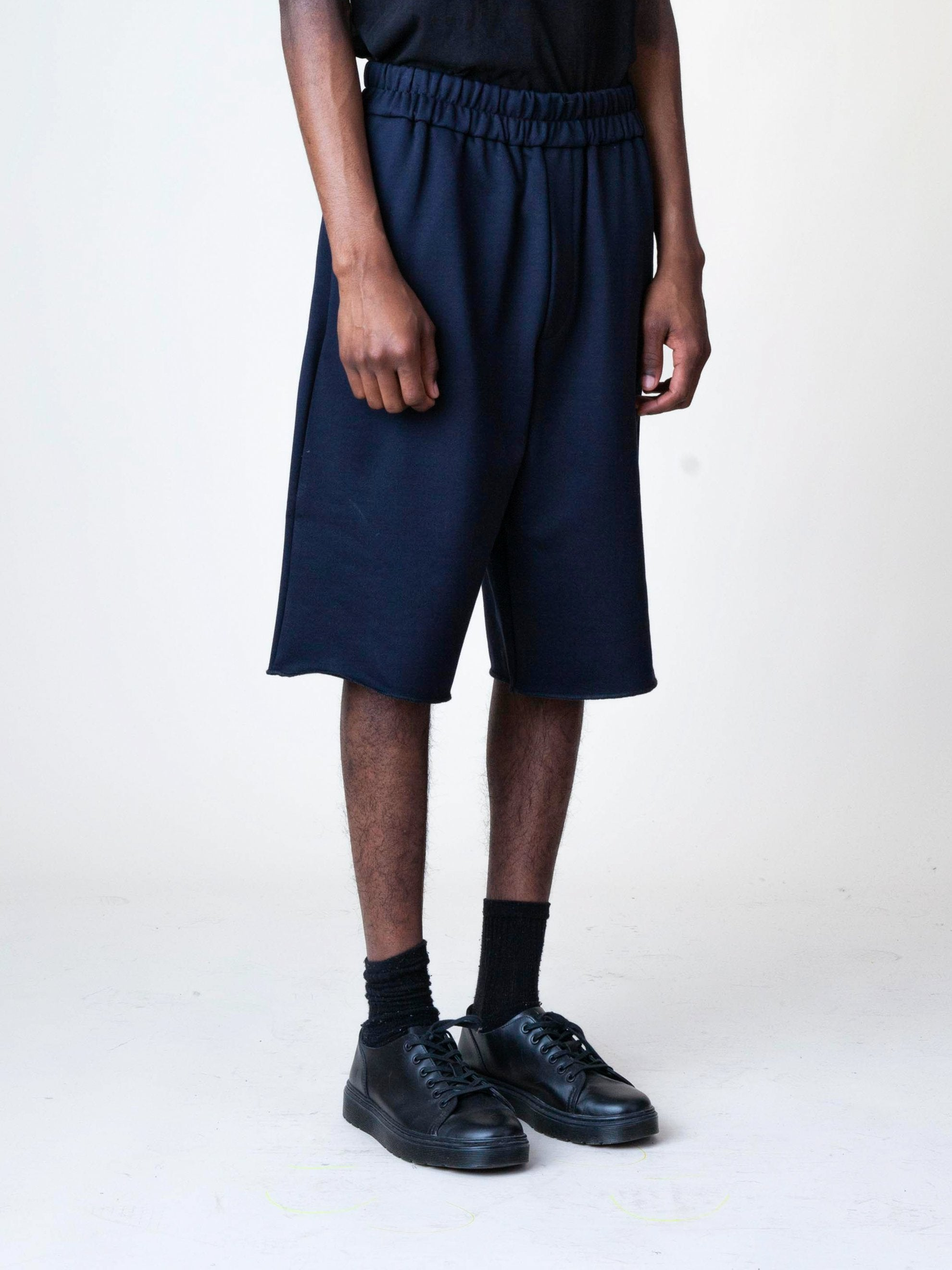 Black Jersey Knitted Short Pant 4