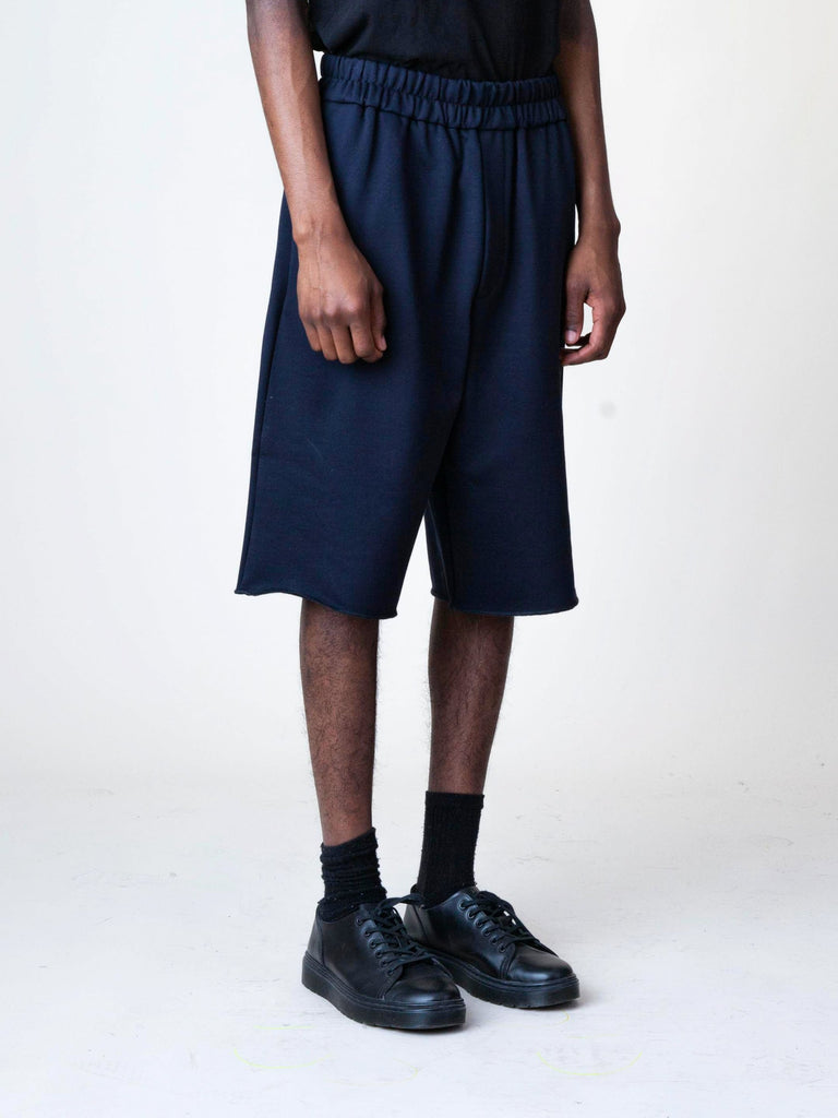 Black Jersey Knitted Short Pant 43596500009037