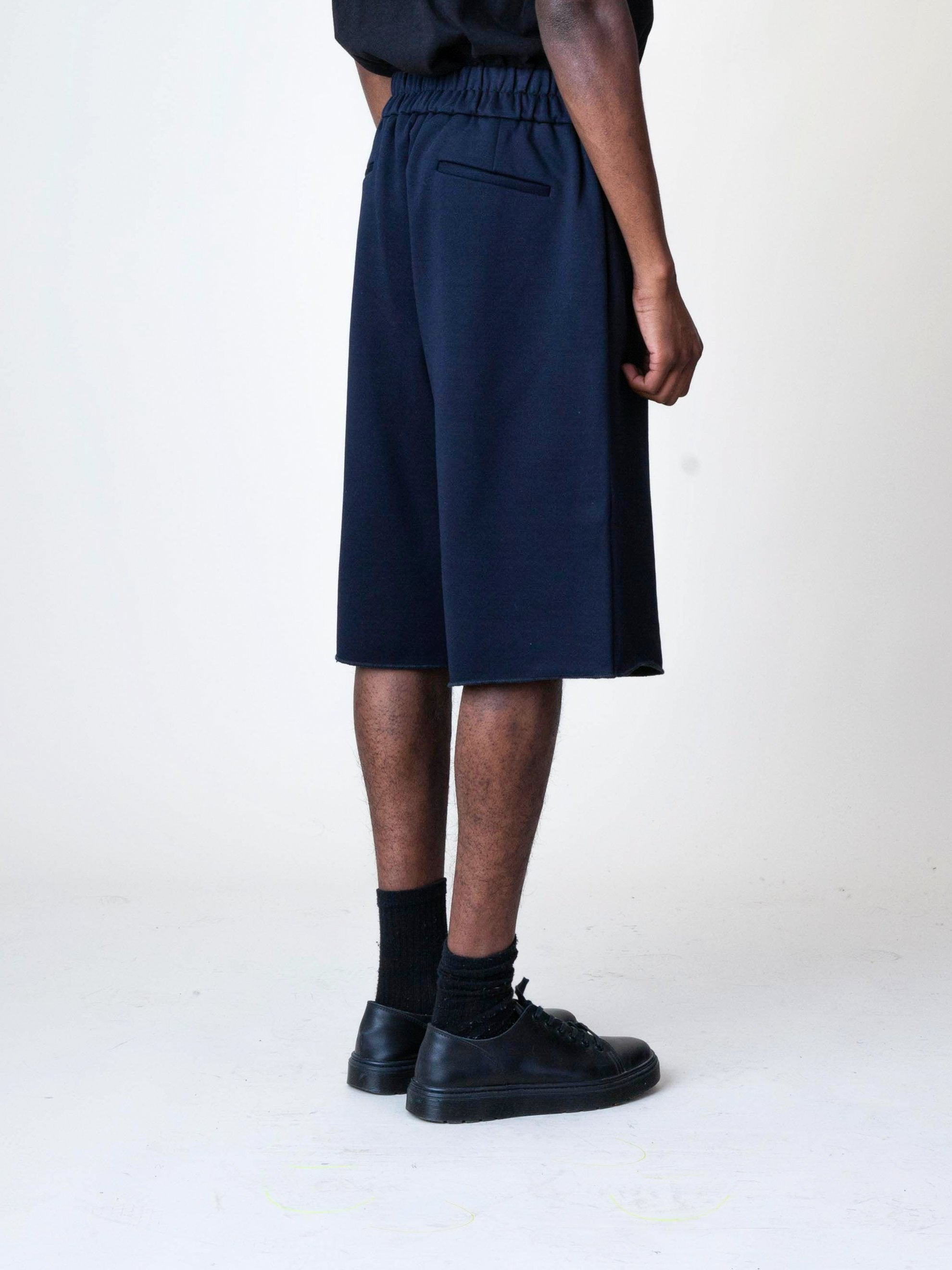 Black Jersey Knitted Short Pant 5