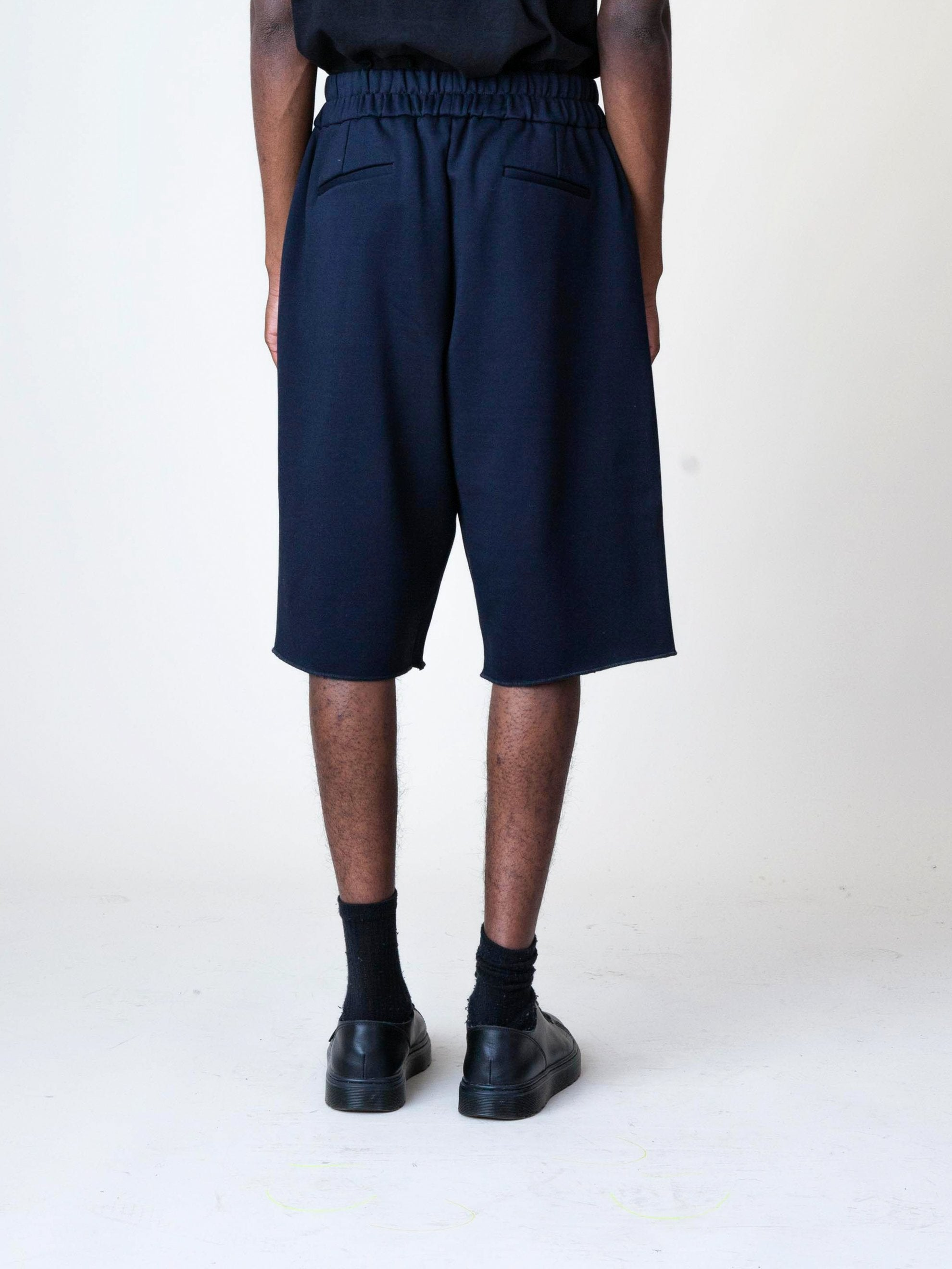 Black Jersey Knitted Short Pant 6