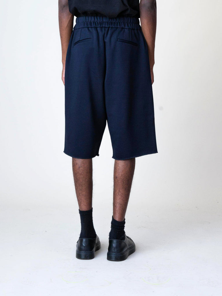 Black Jersey Knitted Short Pant 63596500107341