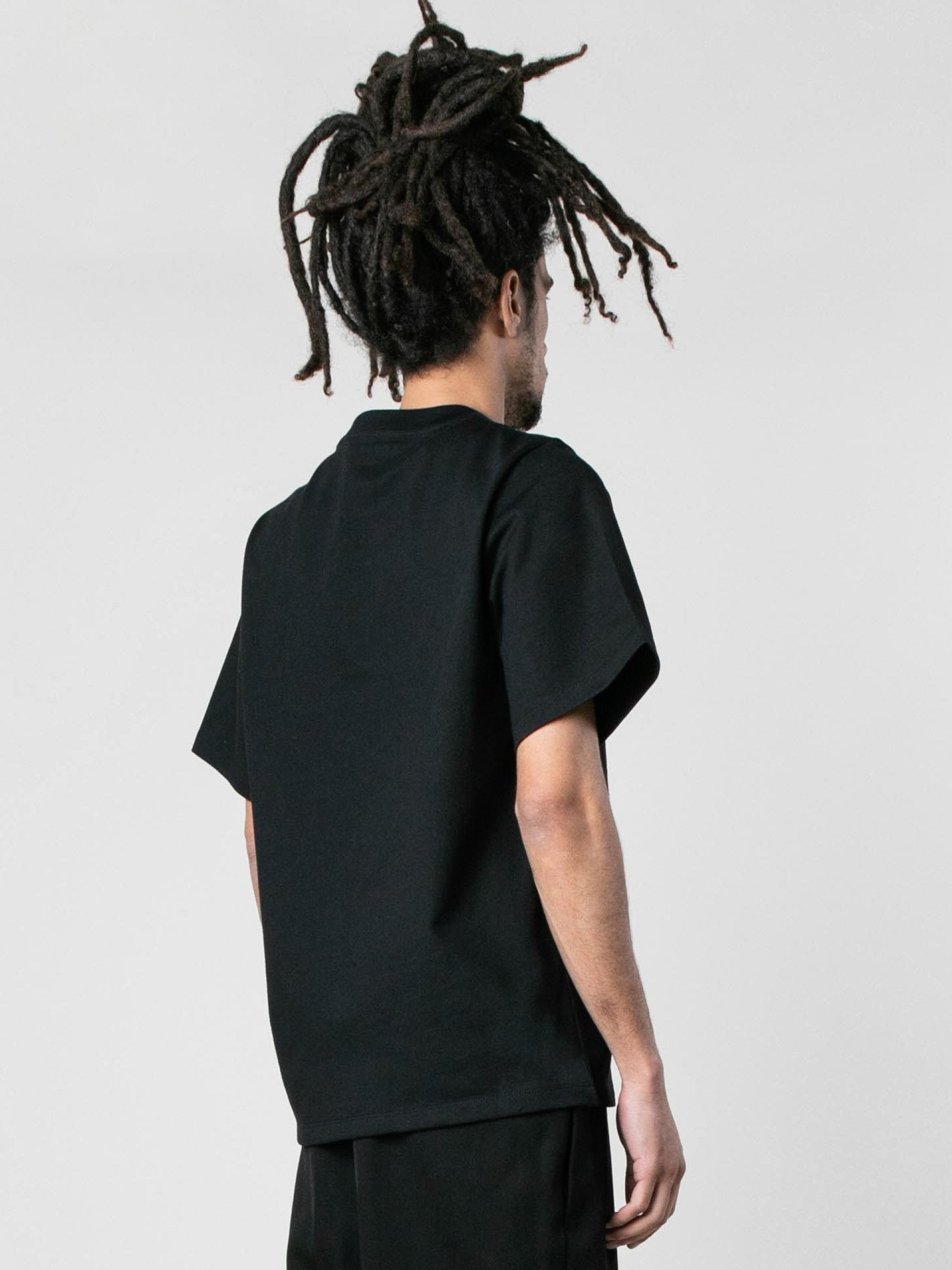 Black Knitted Short Sleeve T-Shirt 4