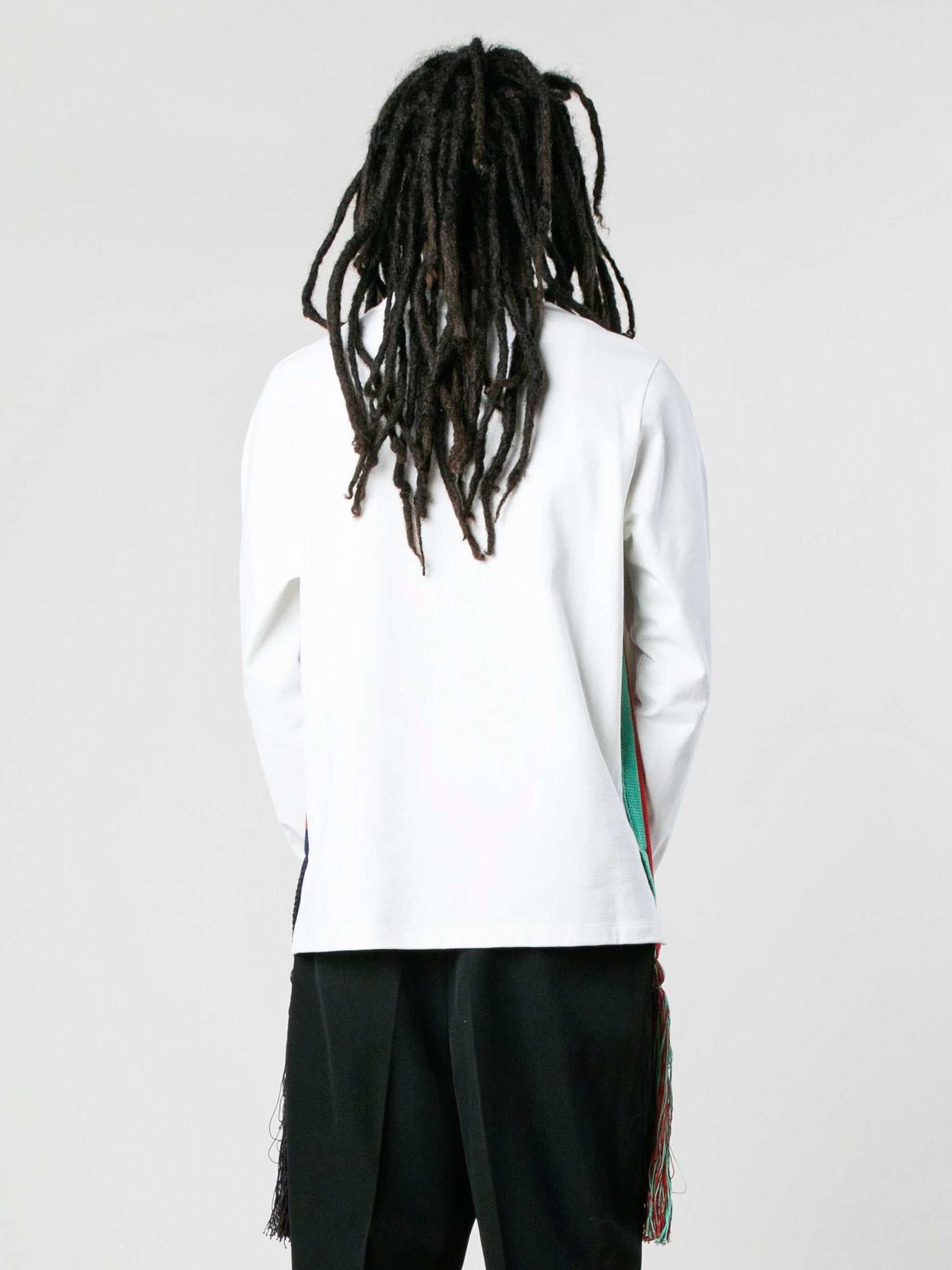 White U-Knitted Long Sleeve T-Shirt 5