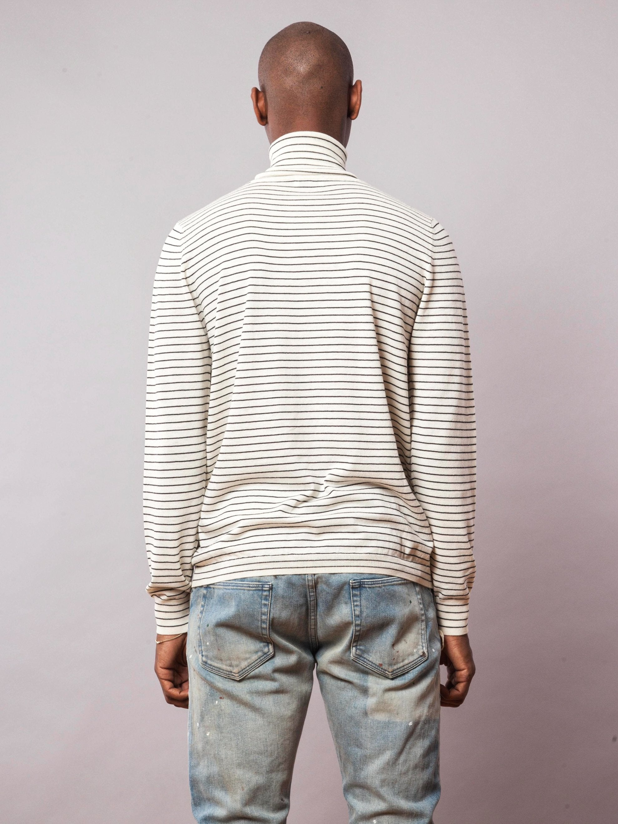 Bone Striped Turtleneck 4