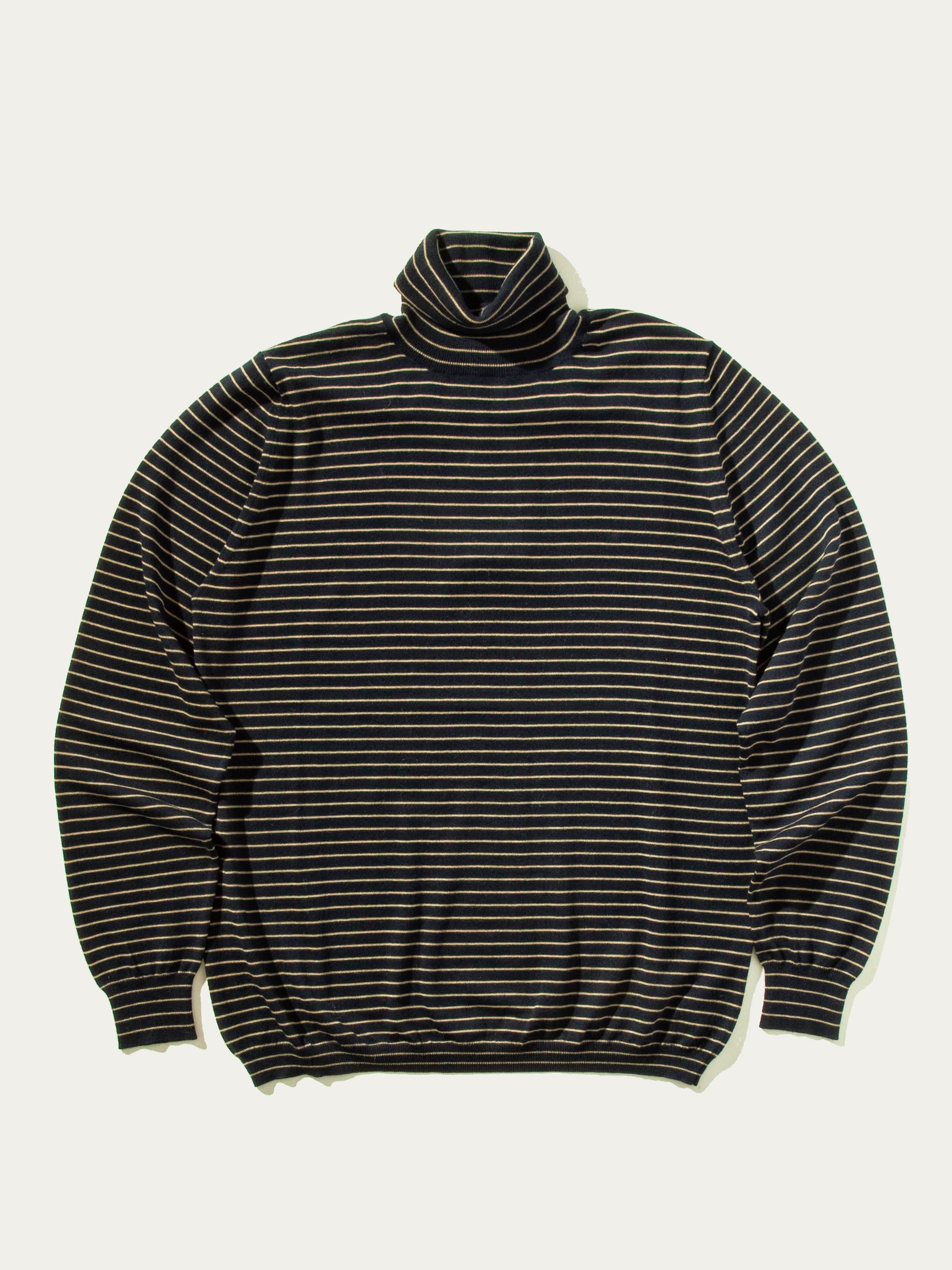 Dark Navy Striped Turtleneck 8