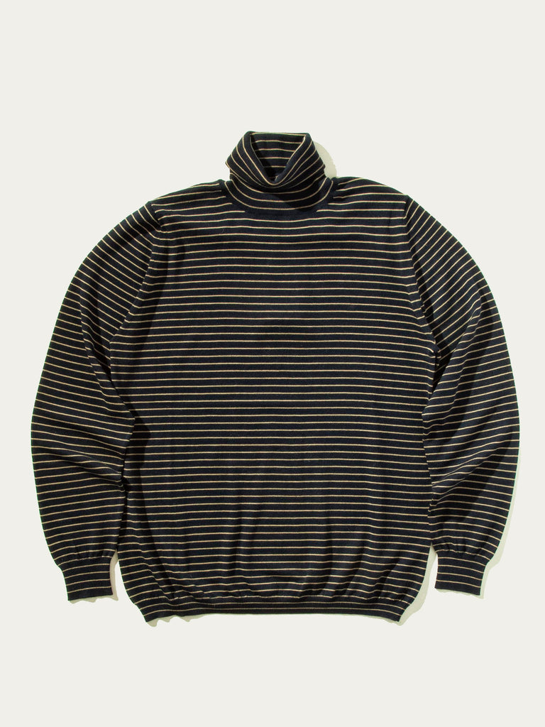 Dark Navy Striped Turtleneck 841804890121