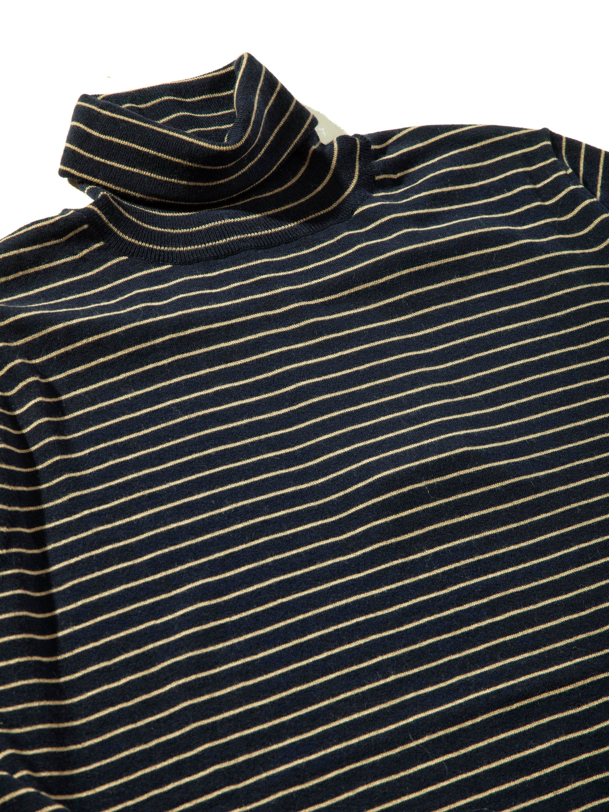 Dark Navy Striped Turtleneck 9
