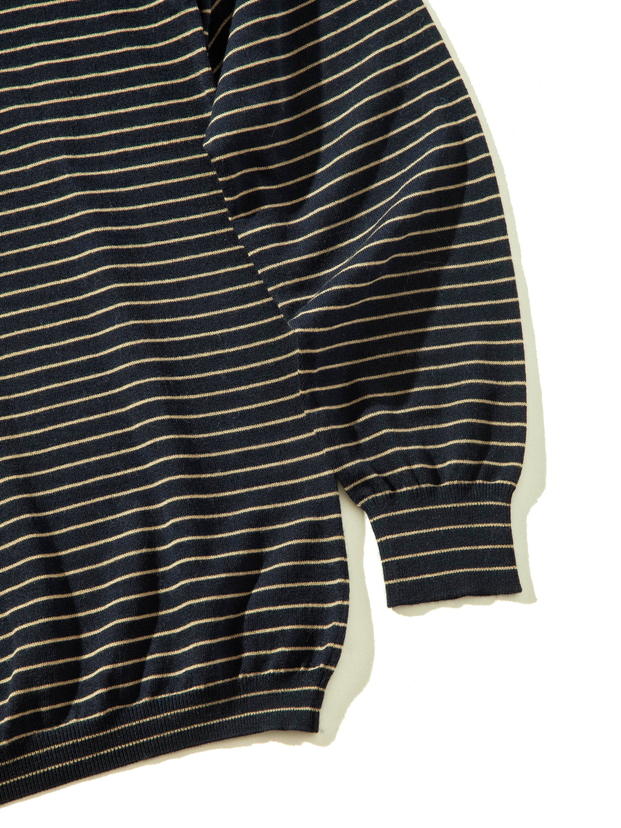 Dark Navy Striped Turtleneck 10