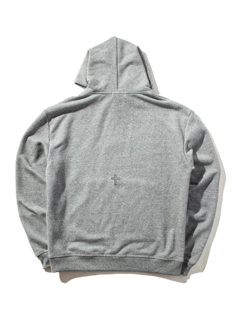 Oversized Cropped Hooded Sweatshirt (STRN COND)